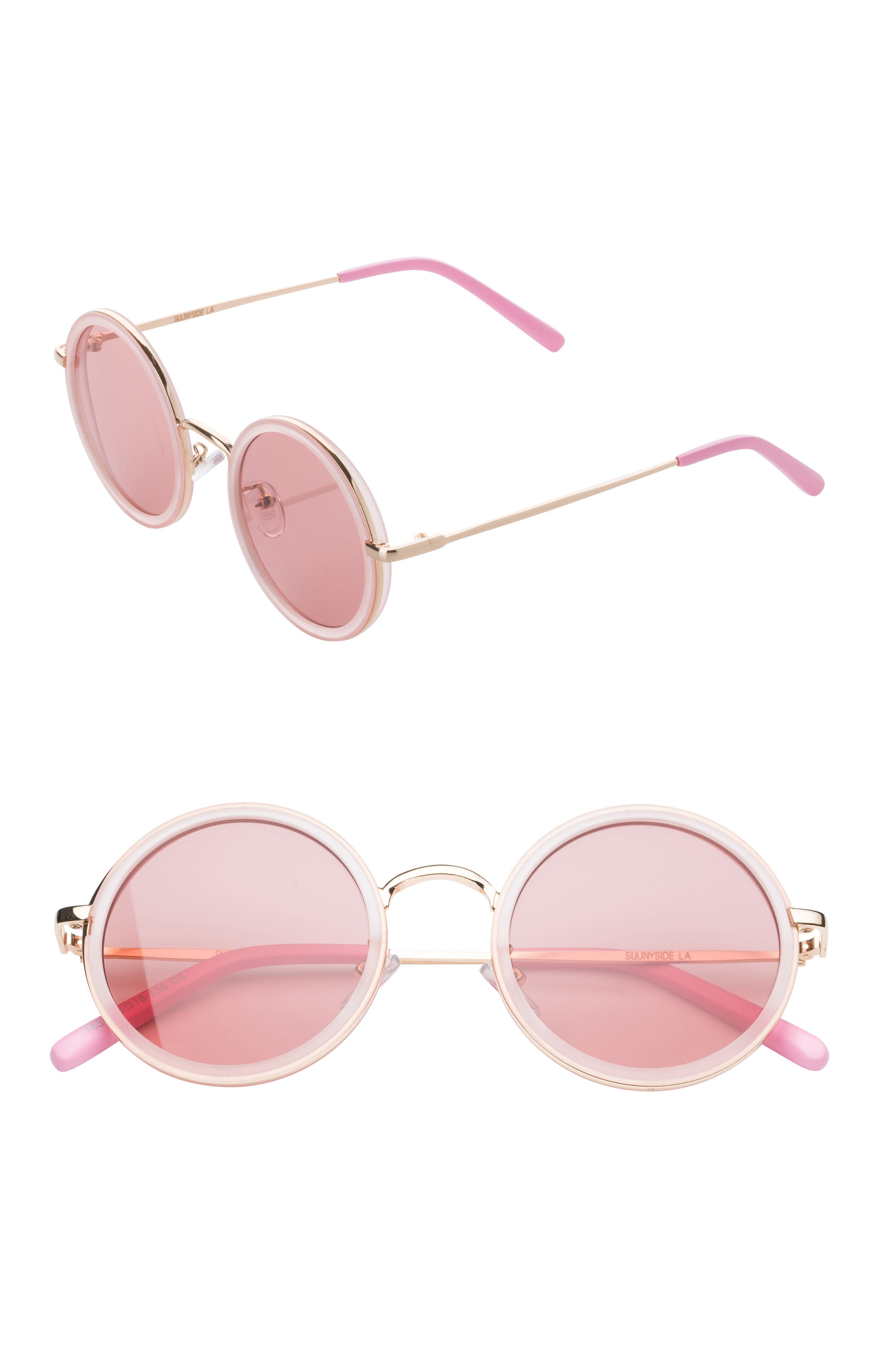 48mm Round Sunglasses,                         Main,                         color, 650