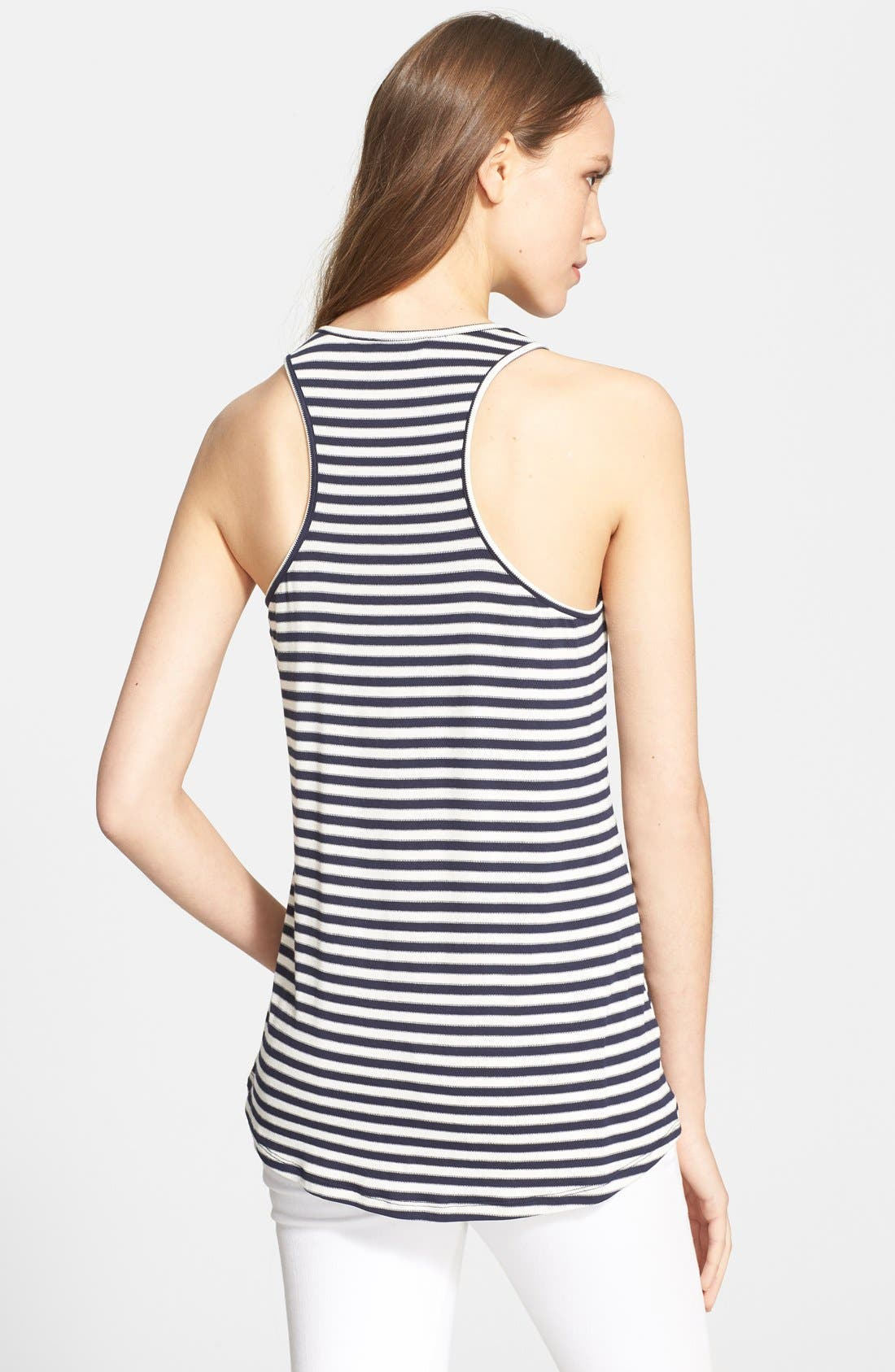 'Nea' Stripe Racerback Tank,                             Alternate thumbnail 2, color,                             457