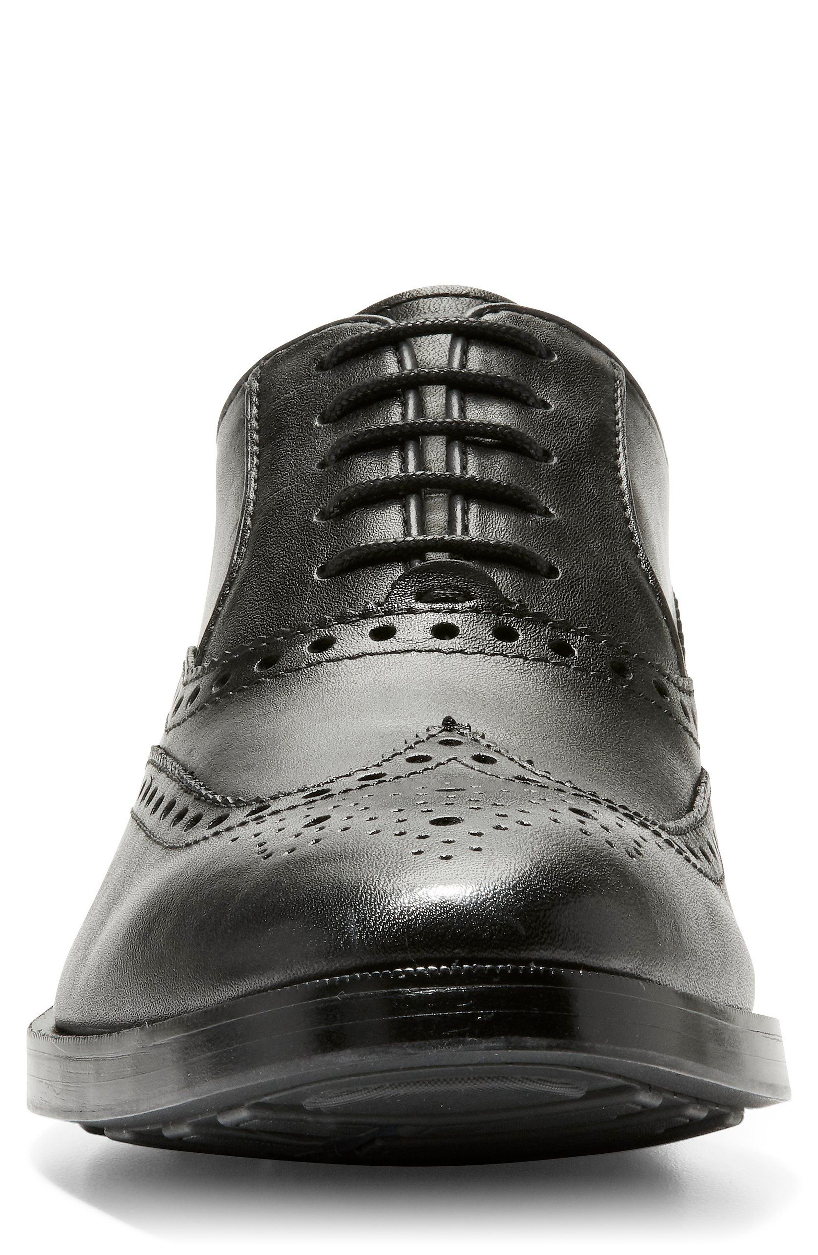 Hamilton Wingtip,                             Alternate thumbnail 3, color,                             BLACK LEATHER