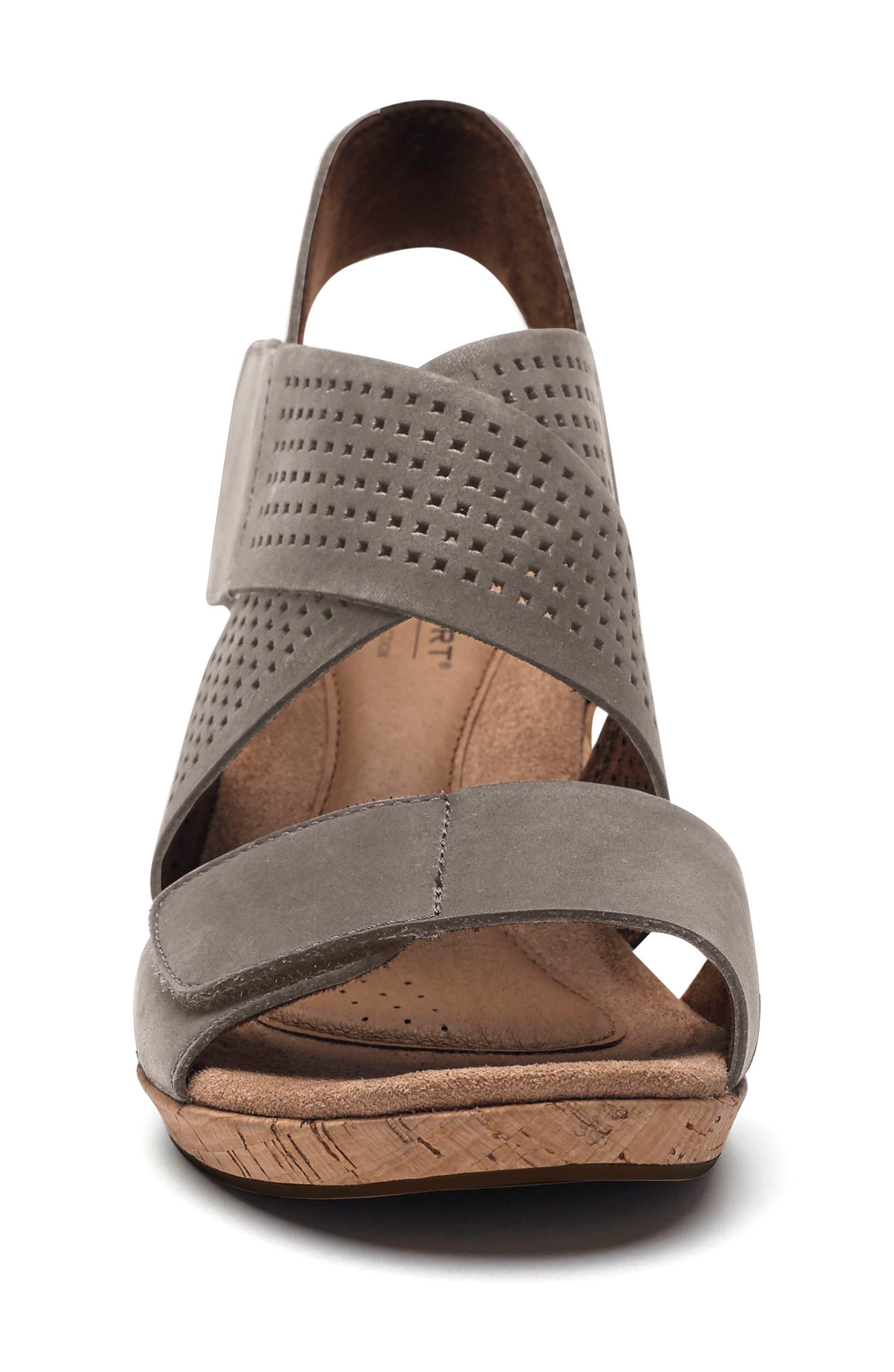 Janna Cross Strap Wedge Sandal,                             Alternate thumbnail 18, color,