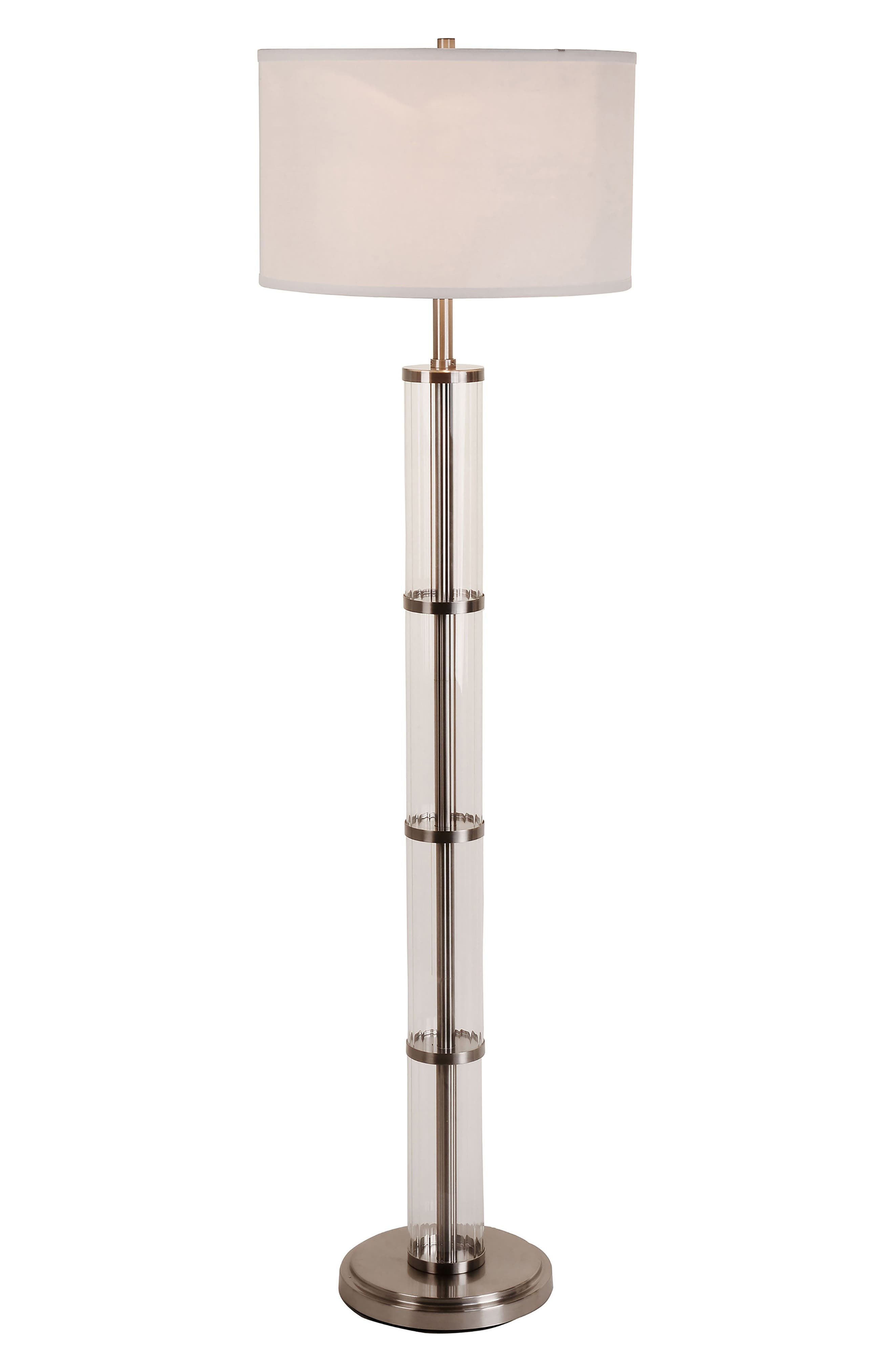JAlexander Ribbed Glass Floor Lamp,                         Main,                         color, 040
