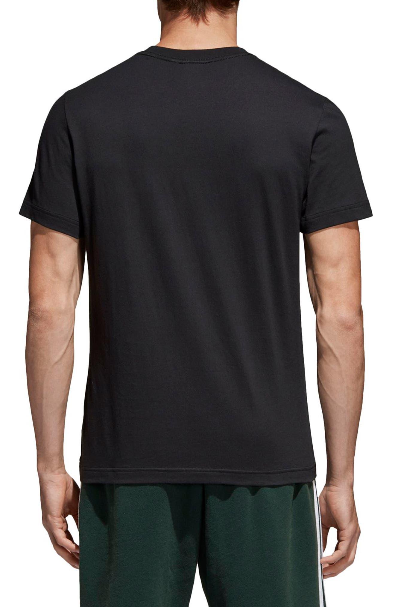 Trefoil T-Shirt,                             Alternate thumbnail 2, color,                             001