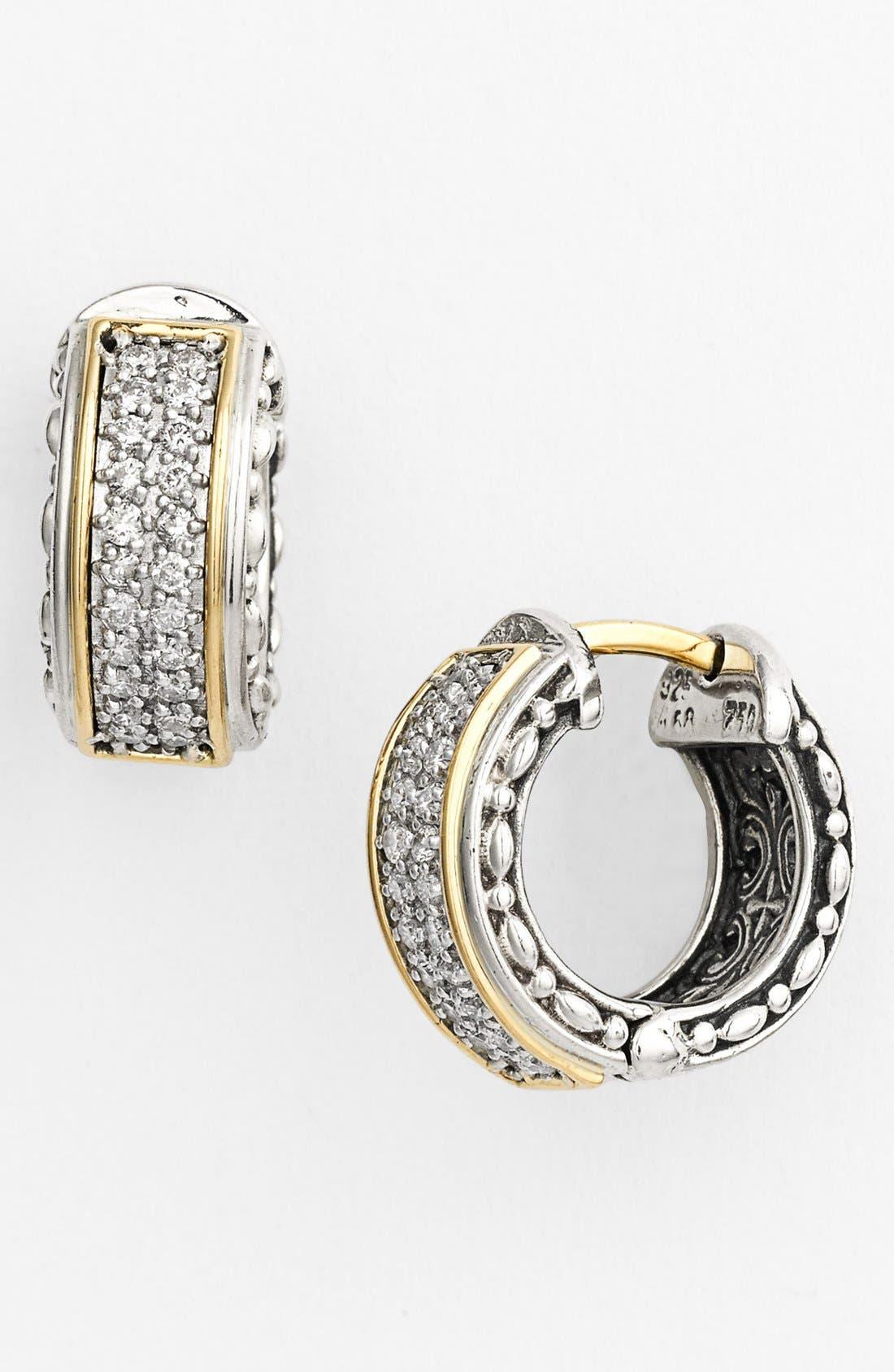 'Diamond Classics' Small Hoop Earrings,                             Main thumbnail 1, color,                             040