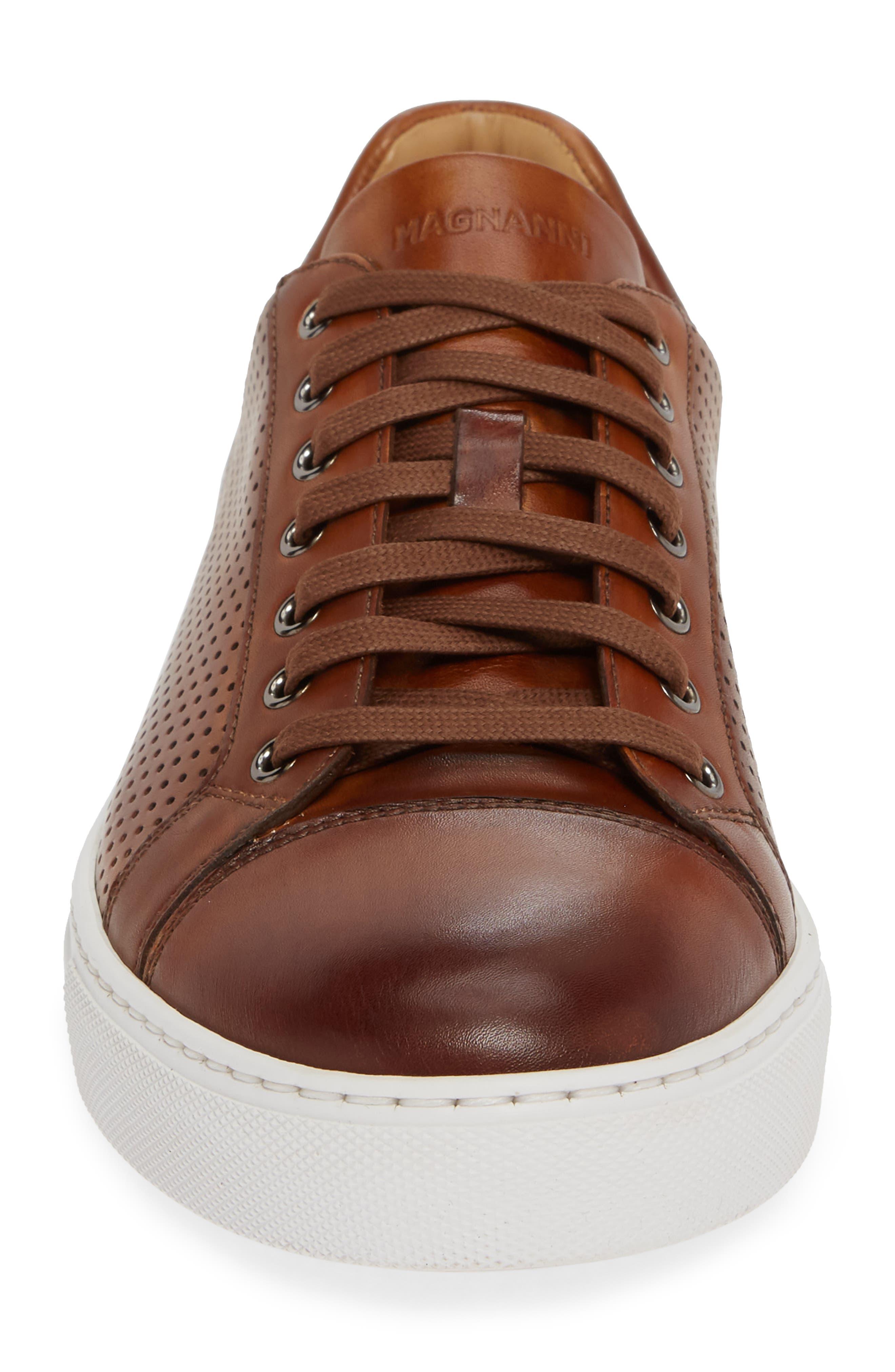Jackson Sneaker,                             Alternate thumbnail 4, color,                             COGNAC LEATHER