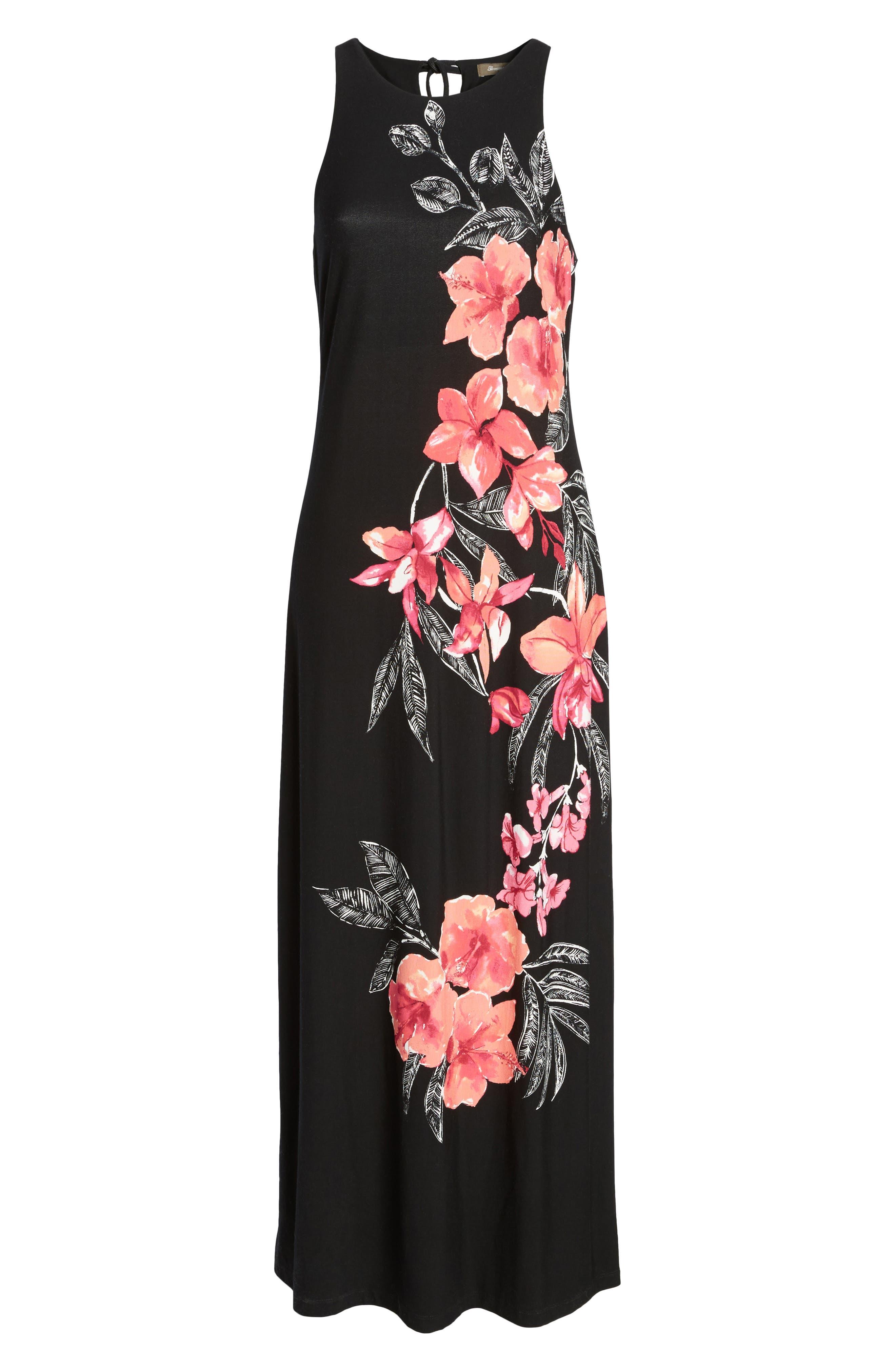 Bedoin Blossoms Maxi Dress,                             Alternate thumbnail 6, color,                             001
