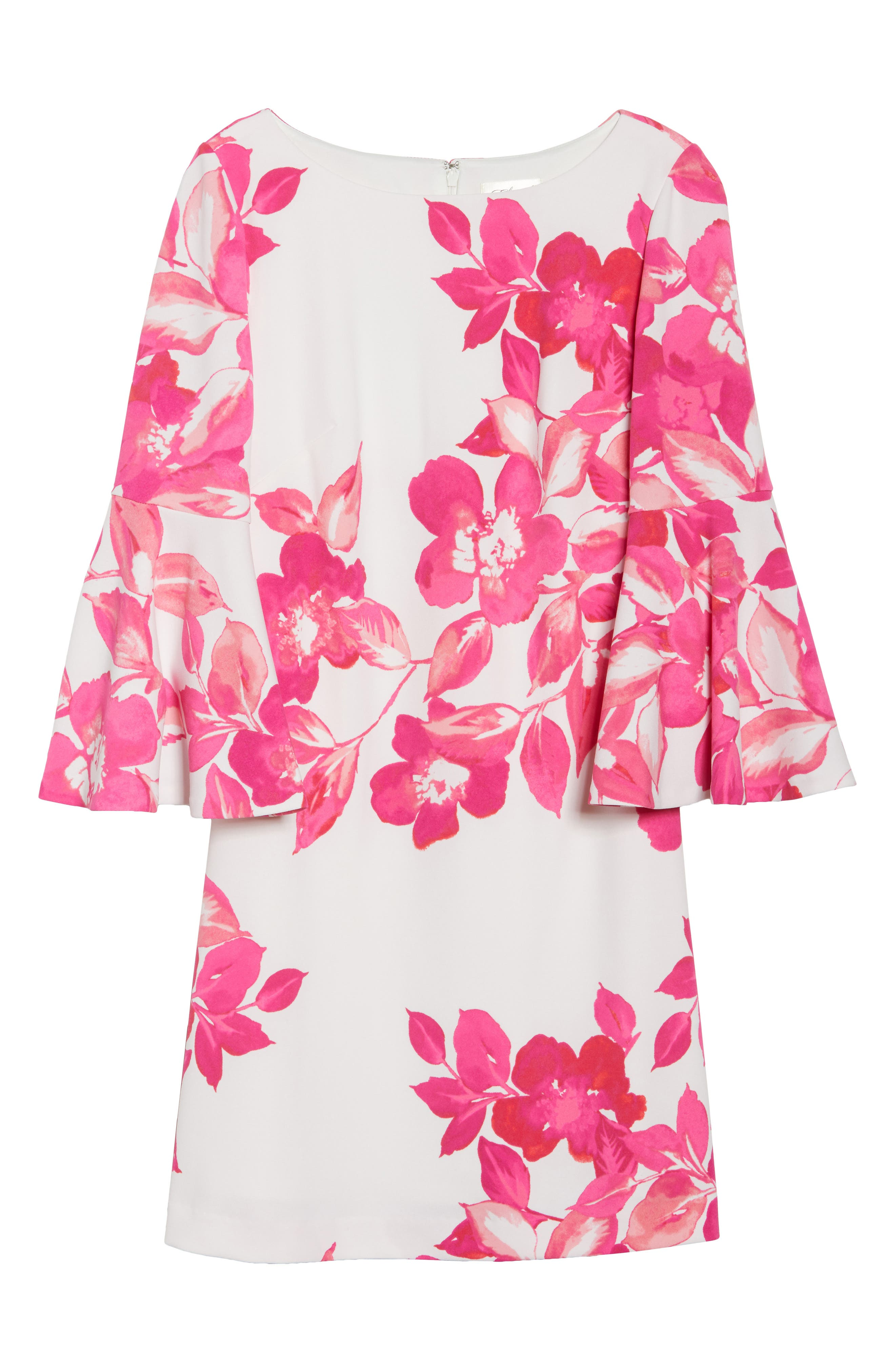 Floral Shift Dress,                             Alternate thumbnail 7, color,                             PINK