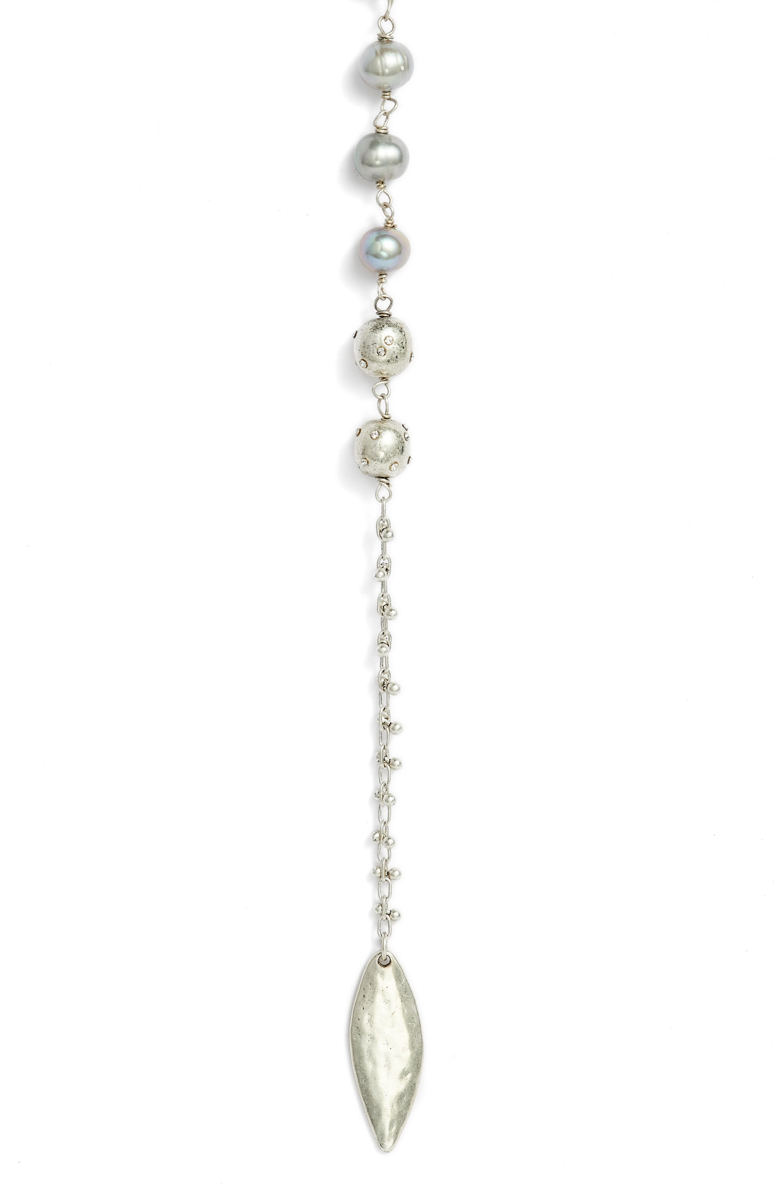 Freshwater Pearl Y-Shape Necklace,                             Alternate thumbnail 3, color,