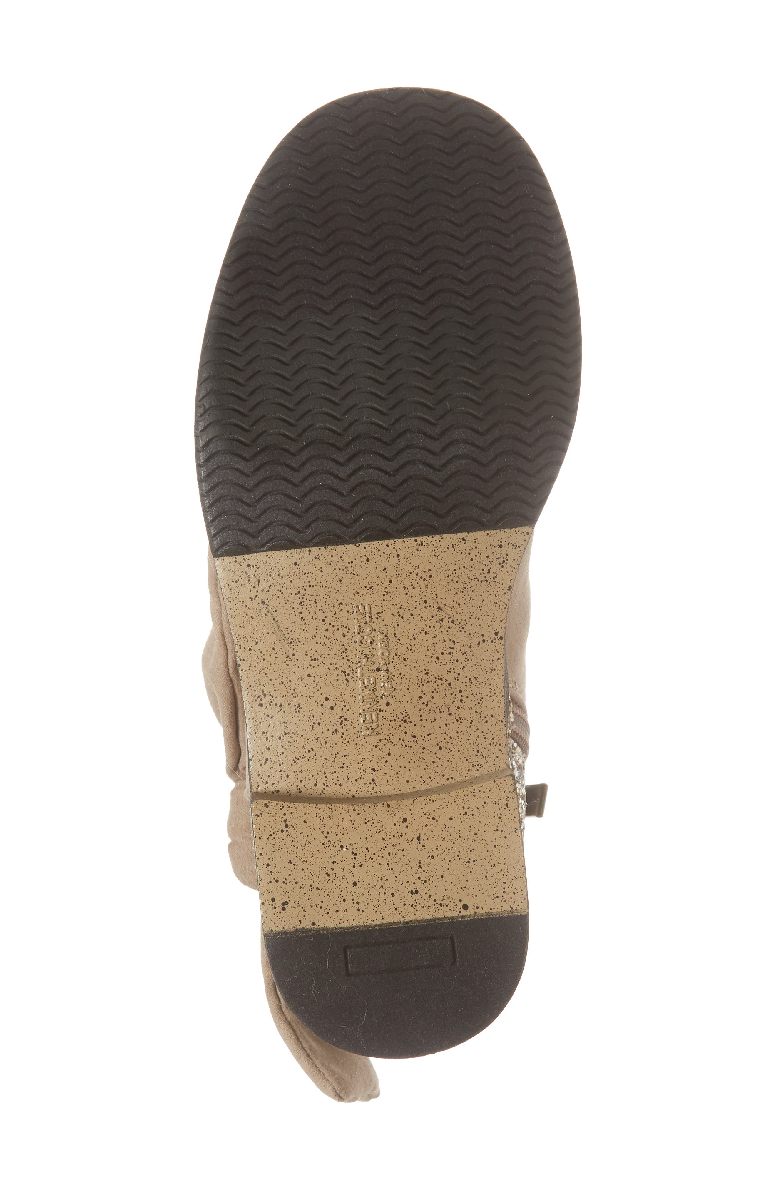 Glittery Kennedy Tie Bootie,                             Alternate thumbnail 6, color,                             TAUPE