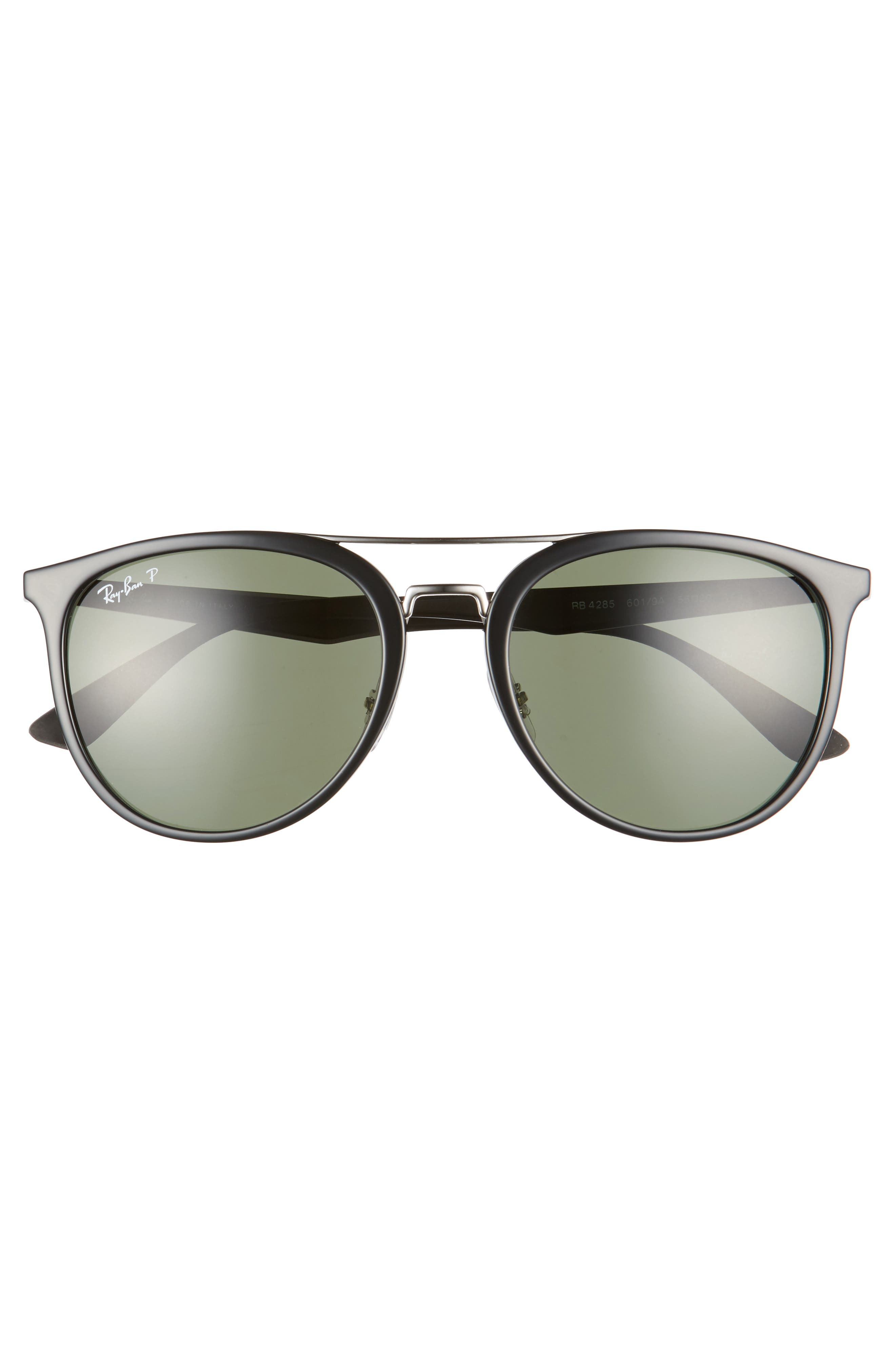 55mm Retro Polarized Sunglasses,                             Alternate thumbnail 2, color,                             001