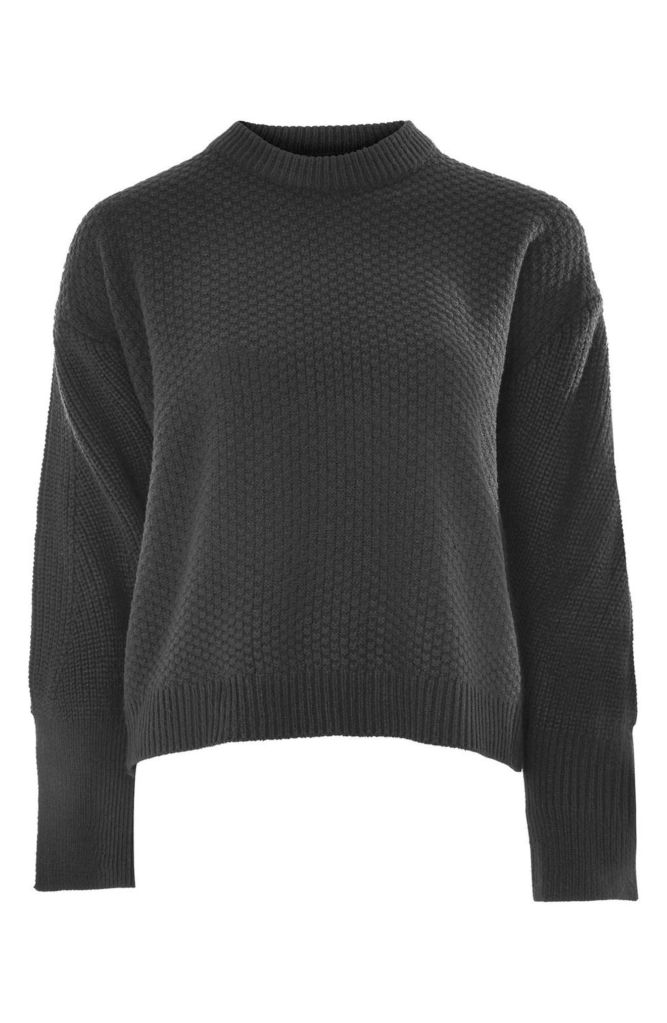 Wide Sleeve Sweater,                             Alternate thumbnail 3, color,                             001