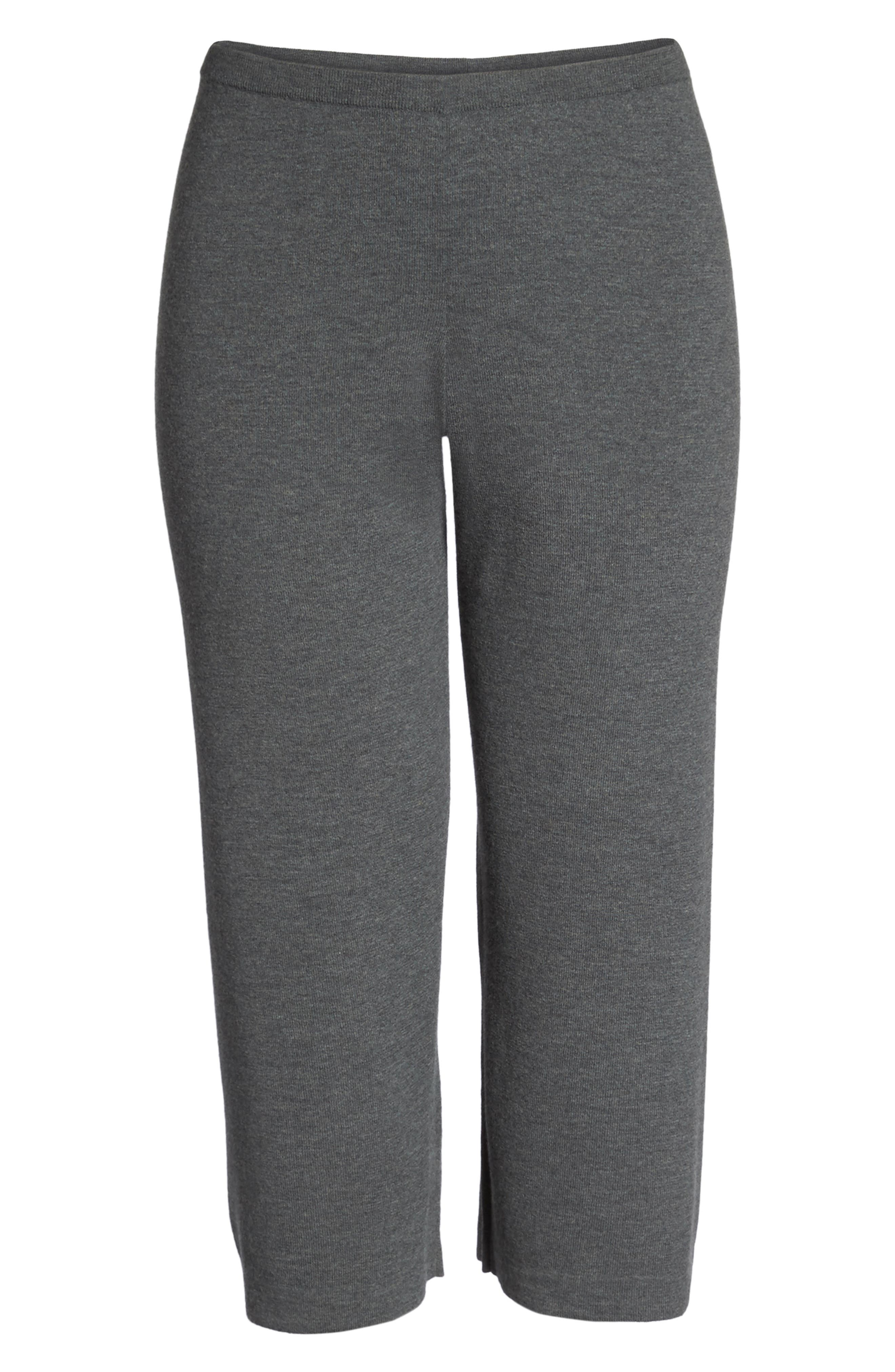 Wide Leg Crop Wool Pants,                             Alternate thumbnail 12, color,