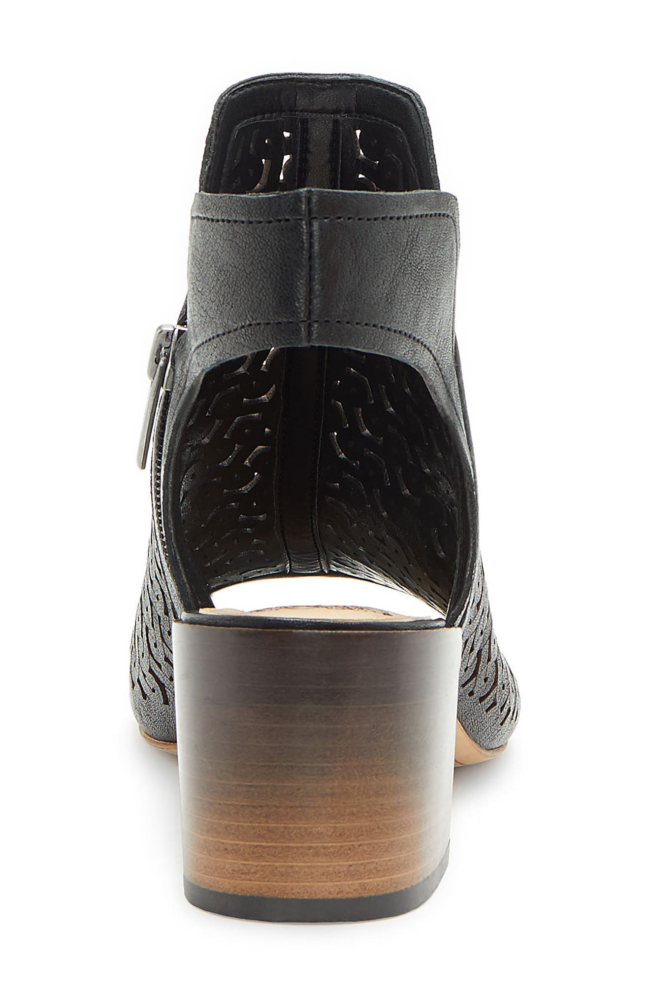 Sternat Sandal,                             Alternate thumbnail 7, color,                             BLACK LEATHER