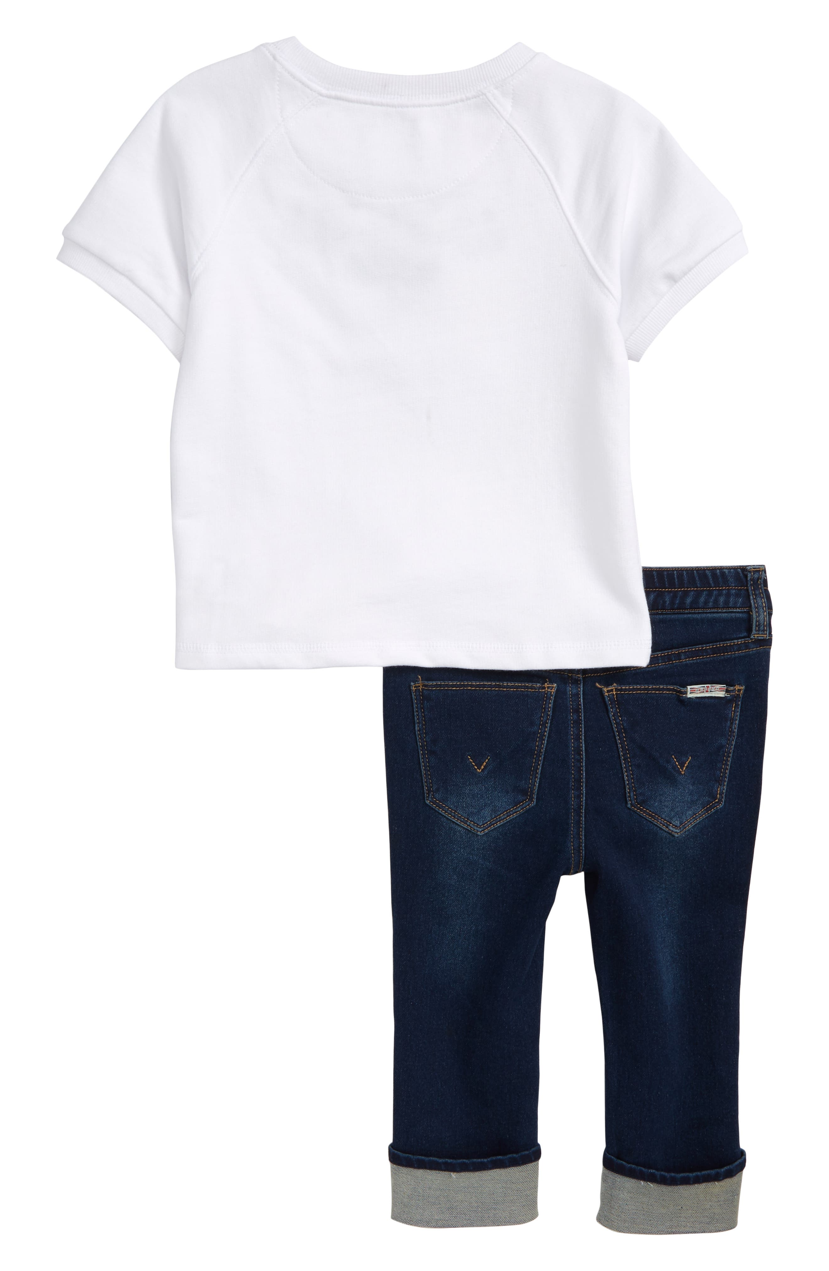 Embroidered Top & Jeans Set,                             Alternate thumbnail 2, color,                             108