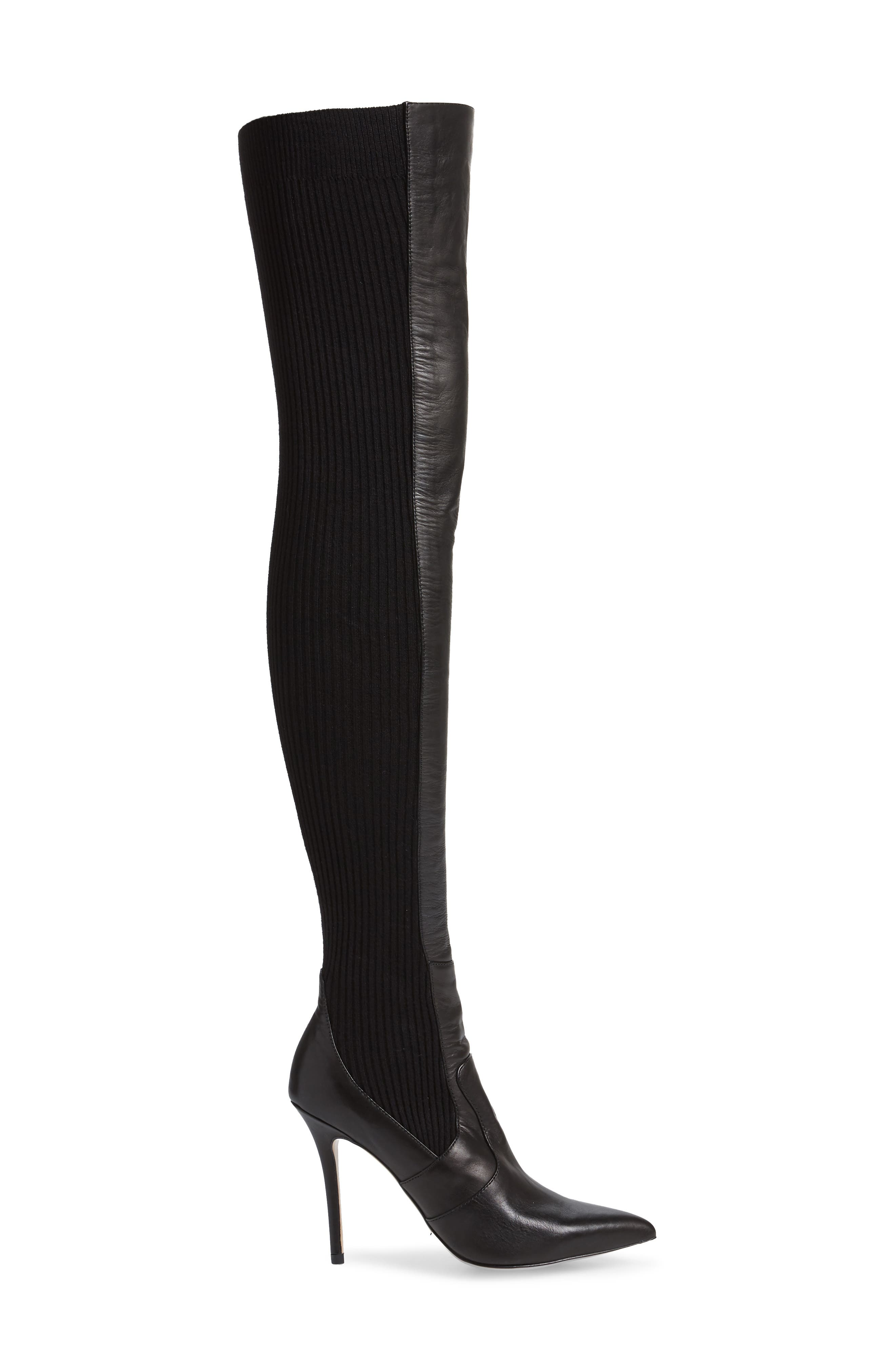 TONY BIANCO,                             Dahlia Over the Knee Boot,                             Alternate thumbnail 3, color,                             001