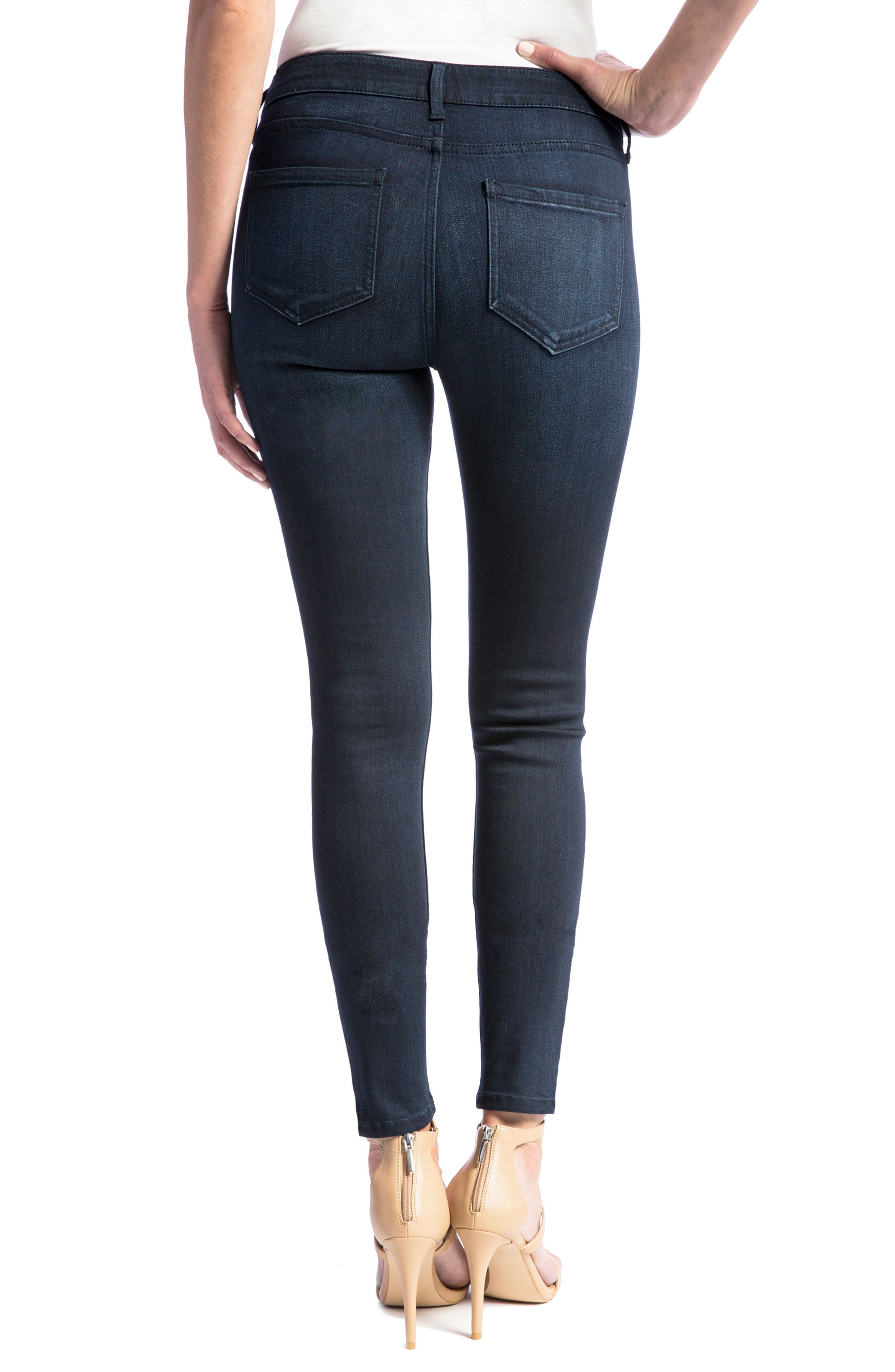 Abby Skinny Jeans,                             Alternate thumbnail 2, color,                             STONEWASH