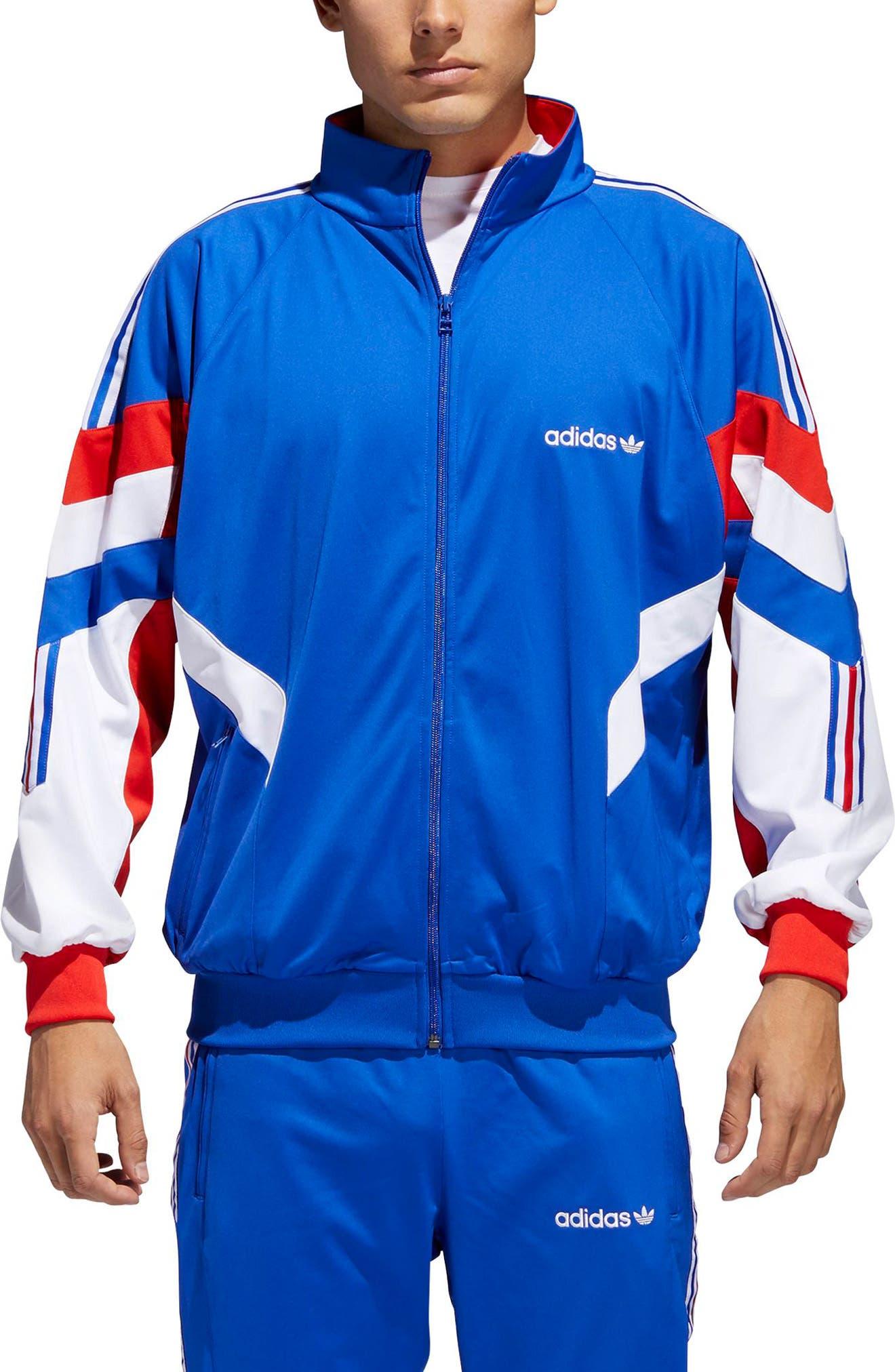 Aloxe Track Jacket,                         Main,                         color, BOLD BLUE/ WHITE