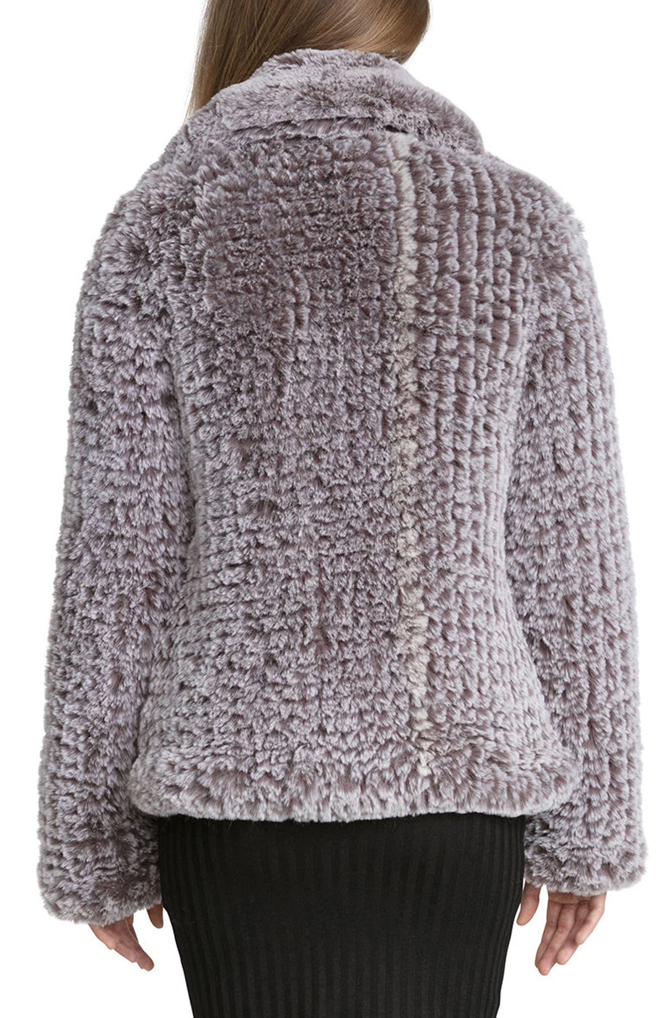 Faux Fur Jacket,                             Alternate thumbnail 2, color,                             022