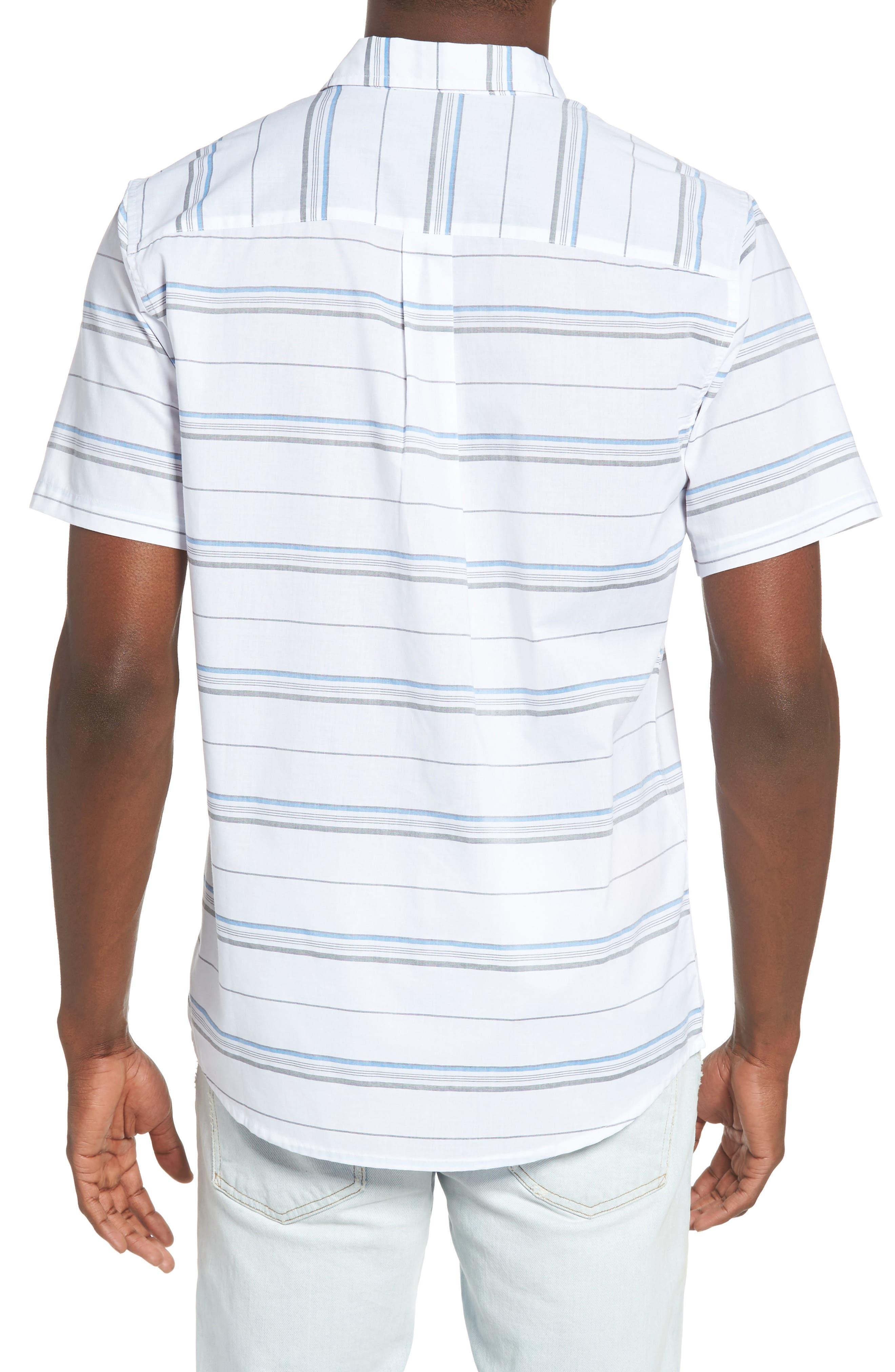 Striped Woven Shirt,                             Alternate thumbnail 6, color,