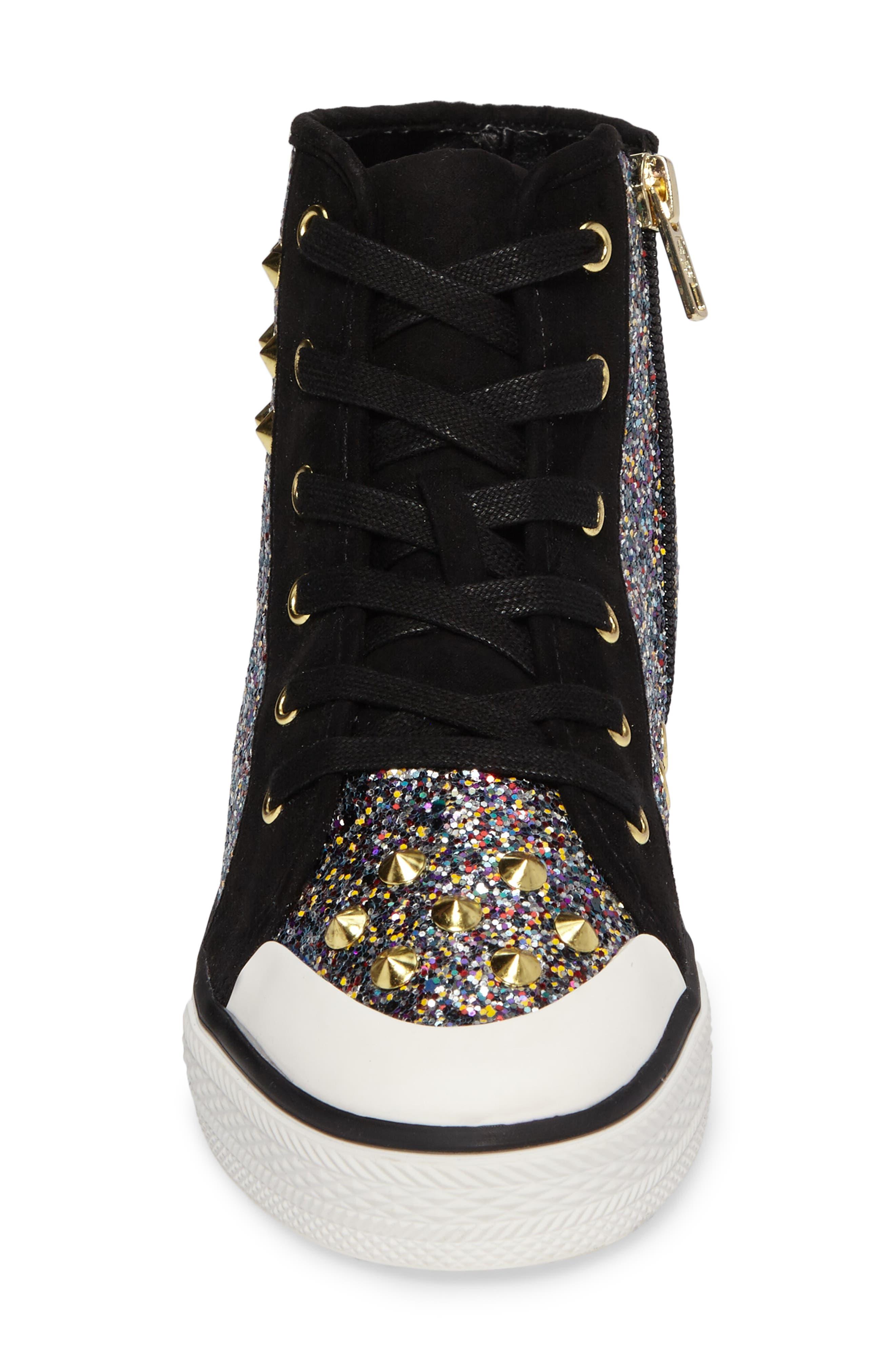 Lita Roe Glittery High Top Sneaker,                             Alternate thumbnail 4, color,                             003