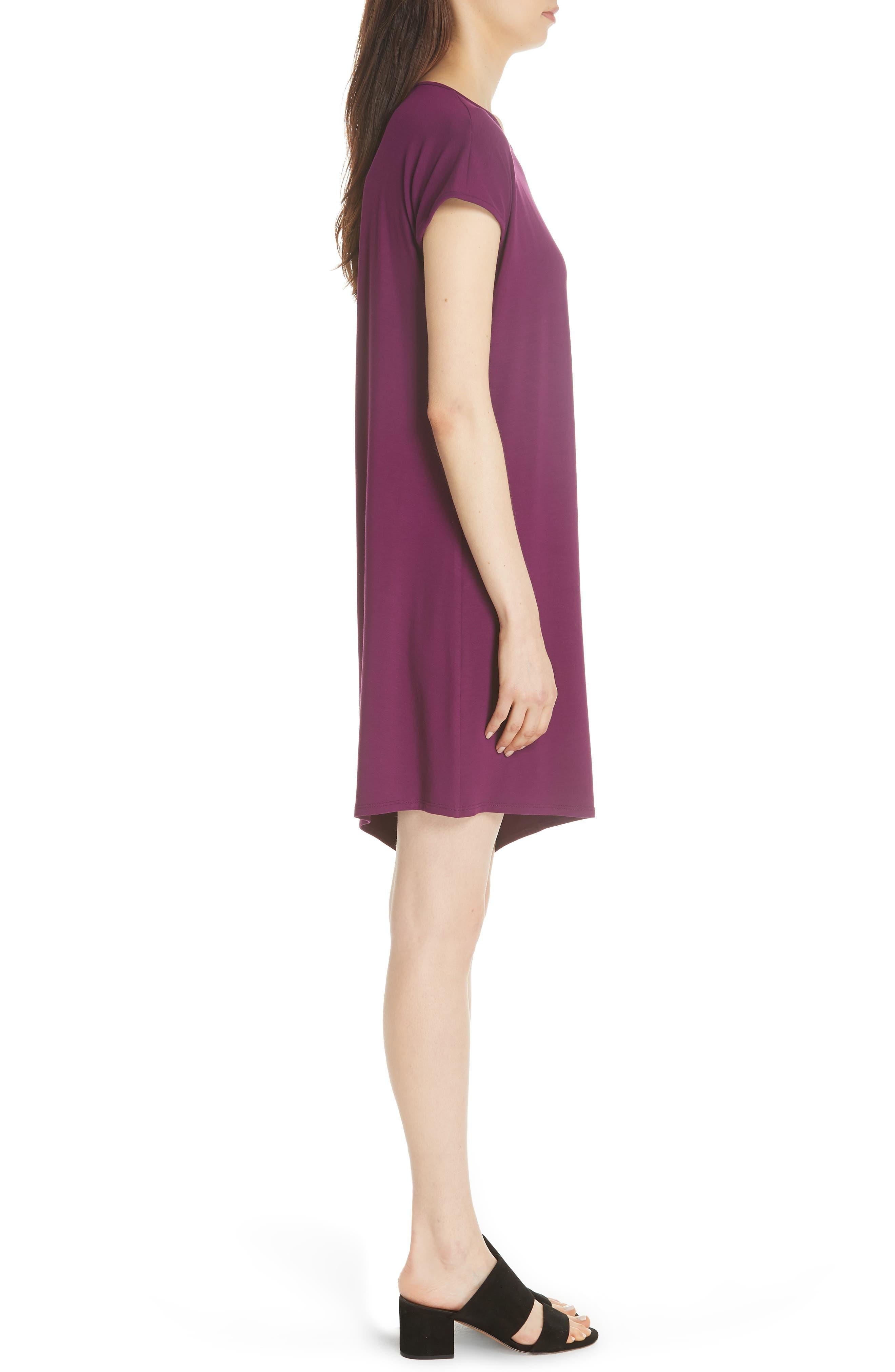 Asymmetrical Jersey Shift Dress,                             Alternate thumbnail 11, color,