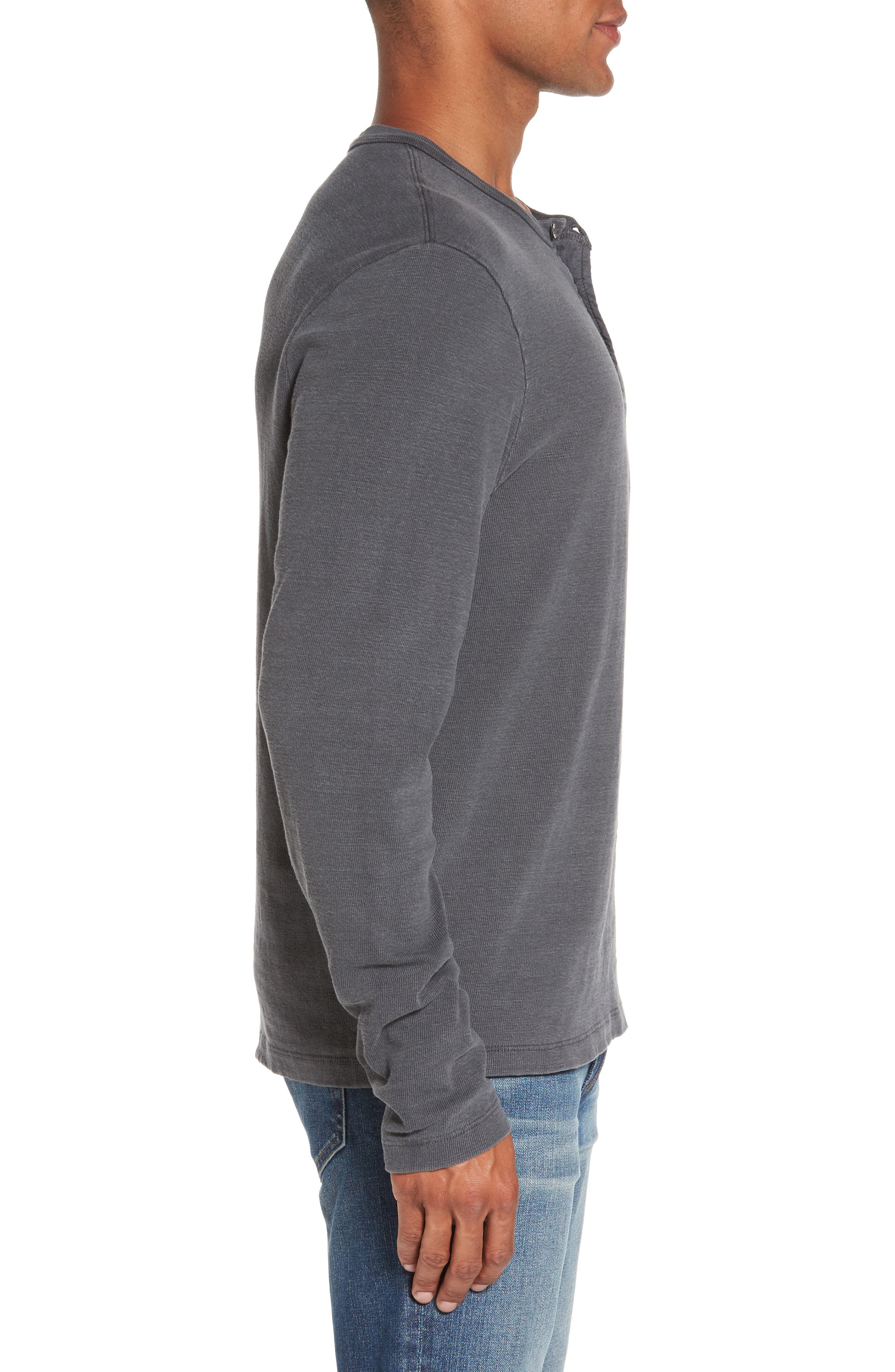 Long Sleeve Henley T-Shirt,                             Alternate thumbnail 9, color,