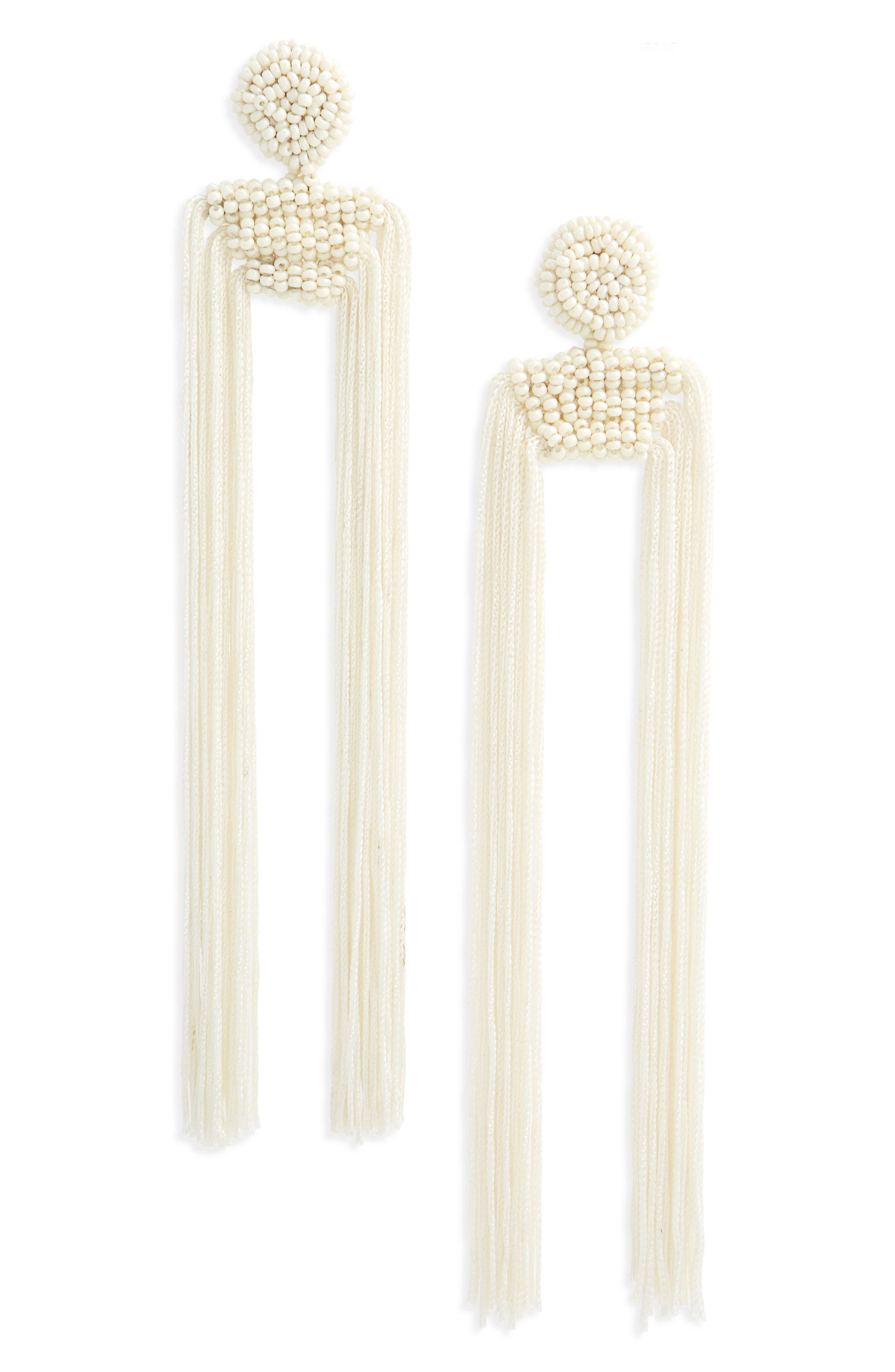 Tropicana Long Tassel Earrings,                             Main thumbnail 4, color,