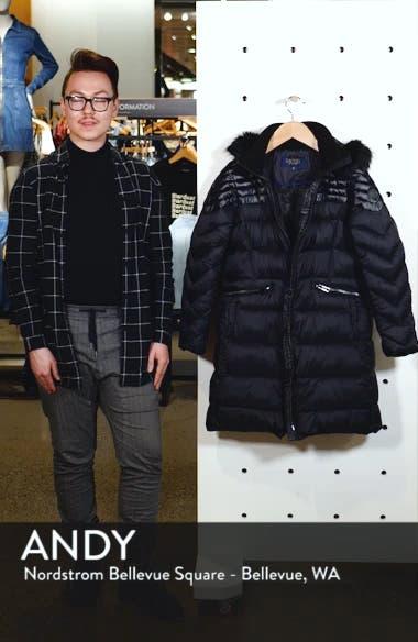 Faux Fur Detail Water Resistant Puffer Coat, sales video thumbnail