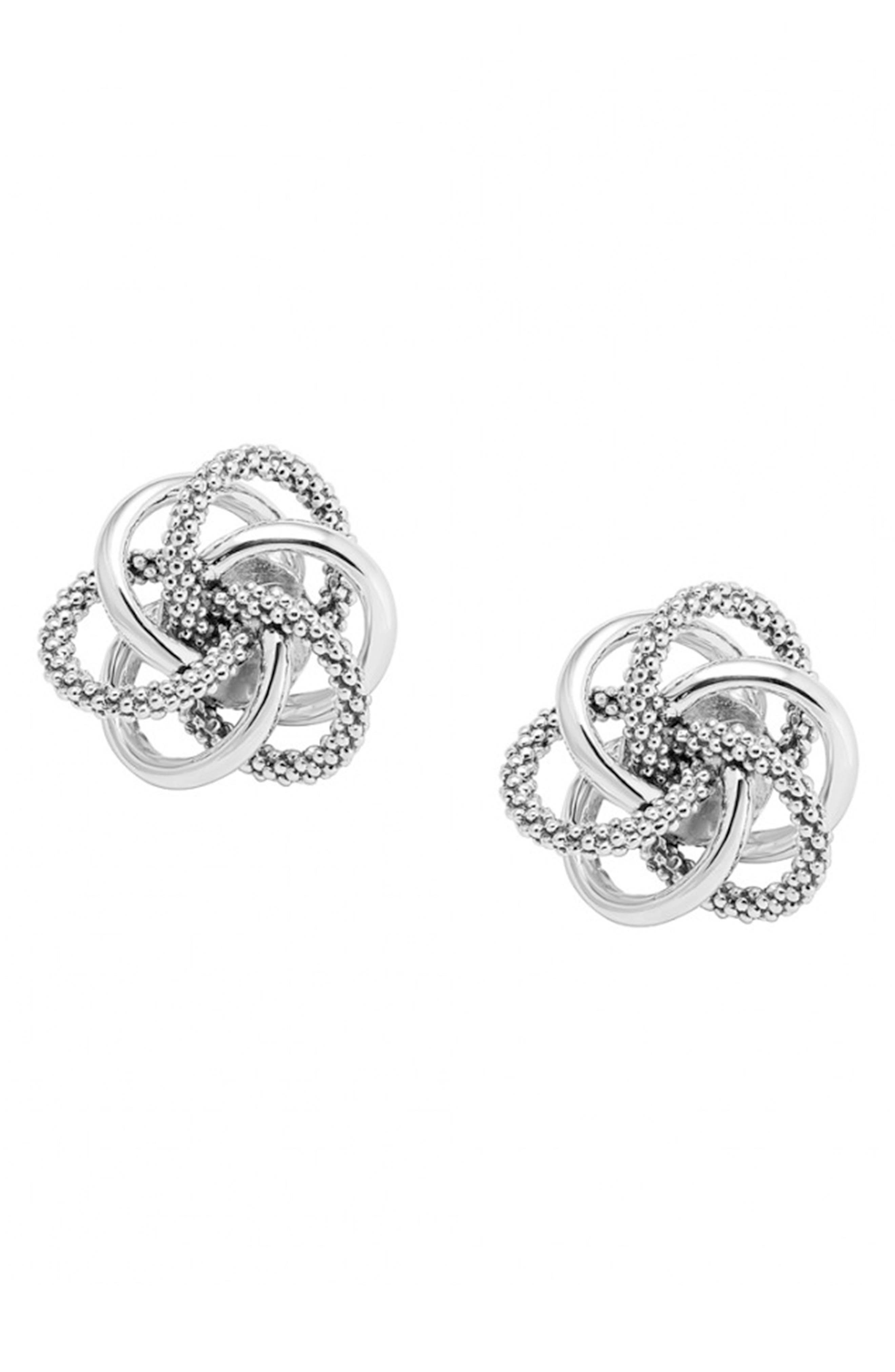 Caviar<sup>™</sup> Stud Earrings,                             Main thumbnail 1, color,                             STERLING SILVER