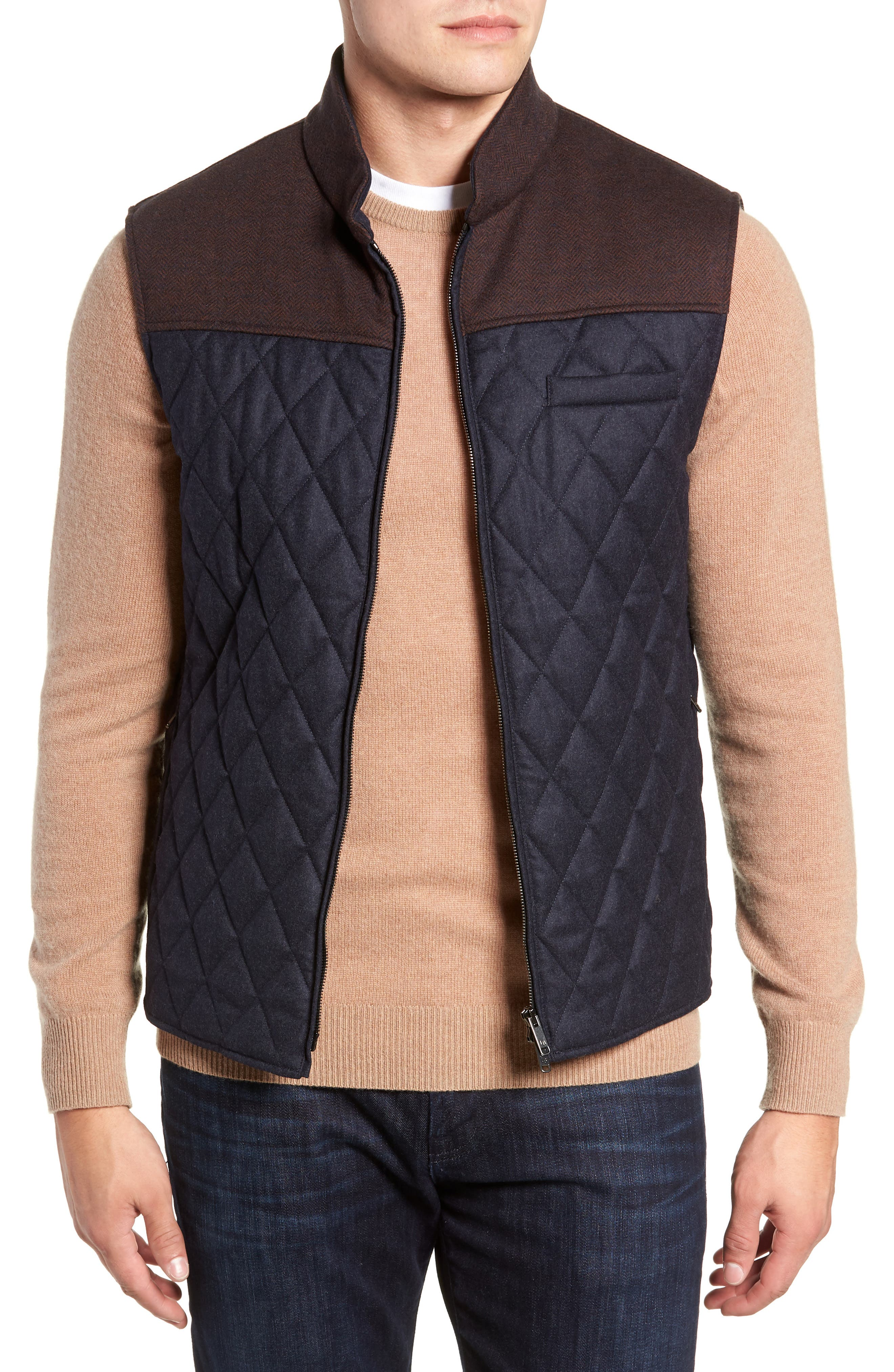 Quilted Vest,                         Main,                         color, 411