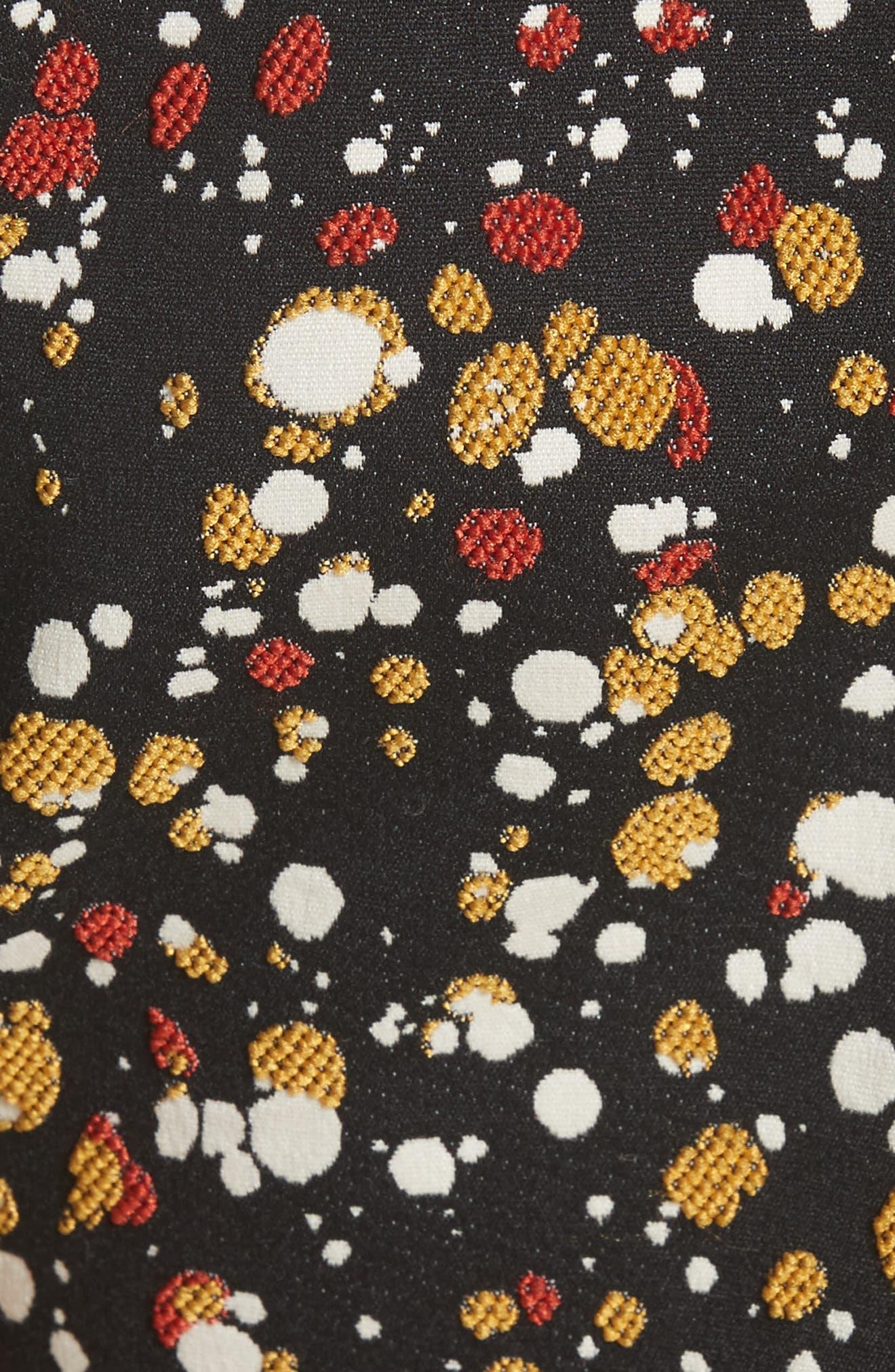 Marble Jacquard Dress,                             Alternate thumbnail 5, color,                             001