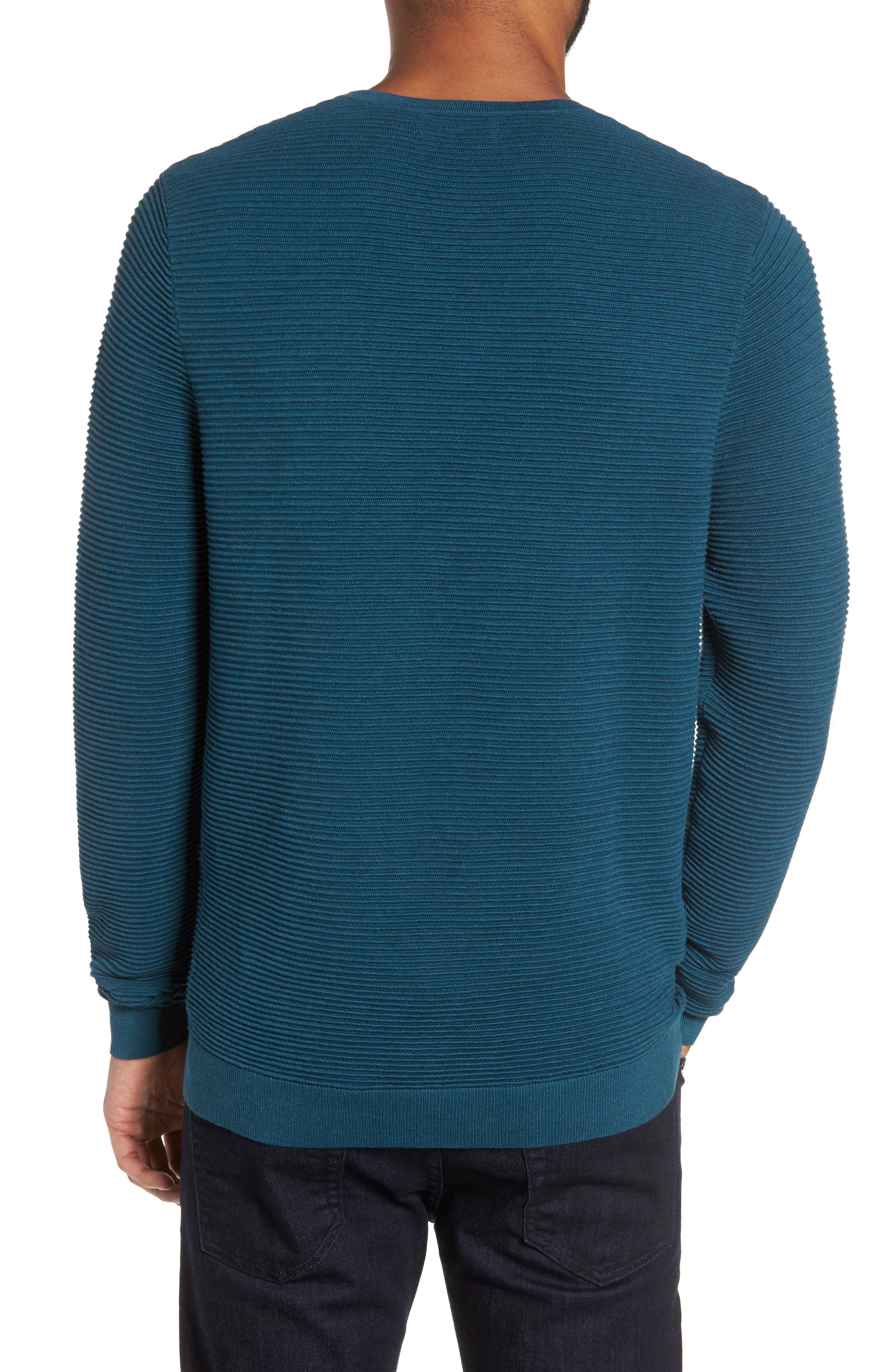 Ottoman Ribbed Crewneck Sweater,                             Alternate thumbnail 6, color,