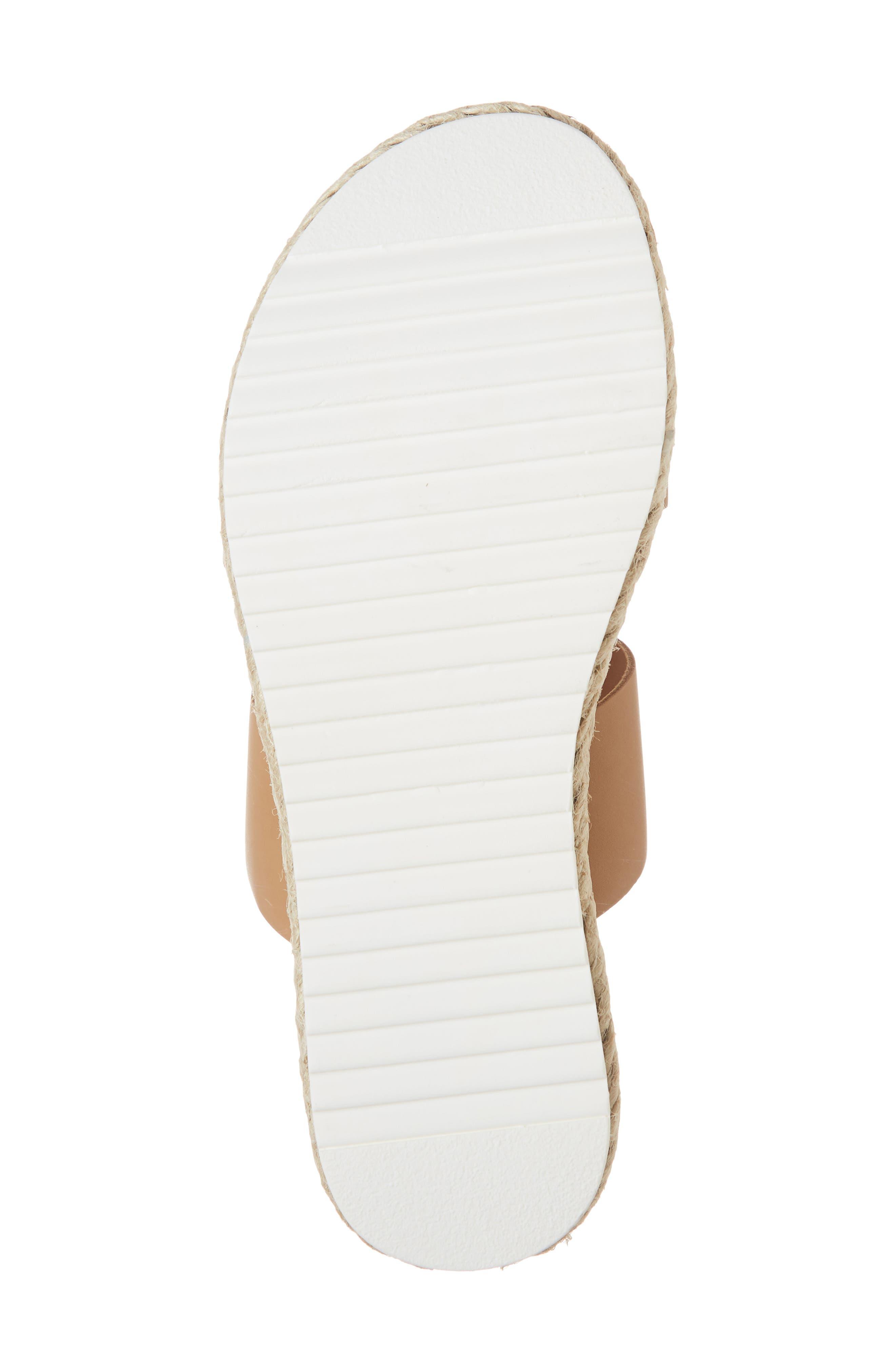 Amaze Platform Slide Sandal,                             Alternate thumbnail 6, color,                             NATURAL LEATHER