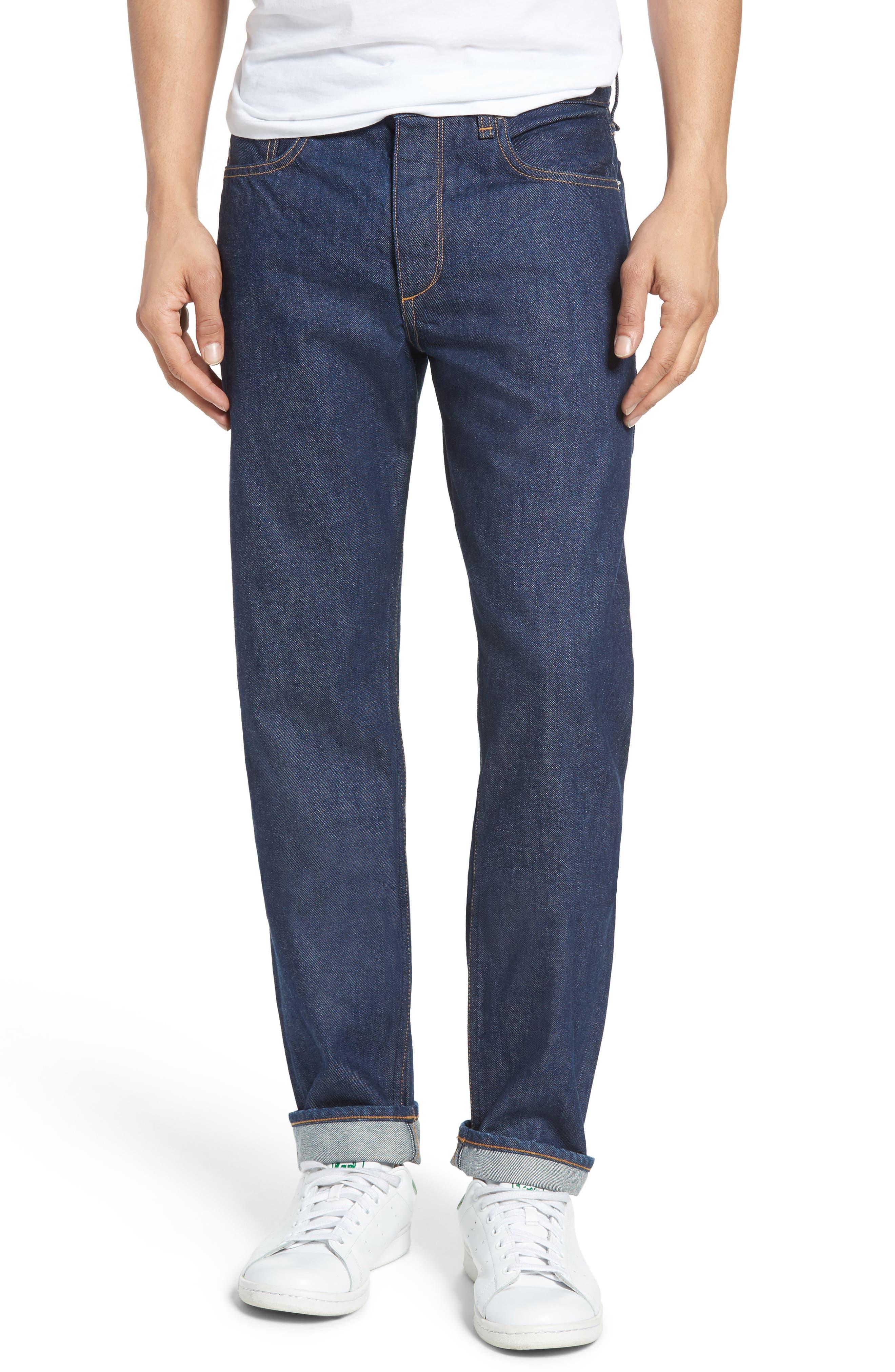 Fit 2 Slim Fit Selvedge Jeans,                             Main thumbnail 1, color,                             427