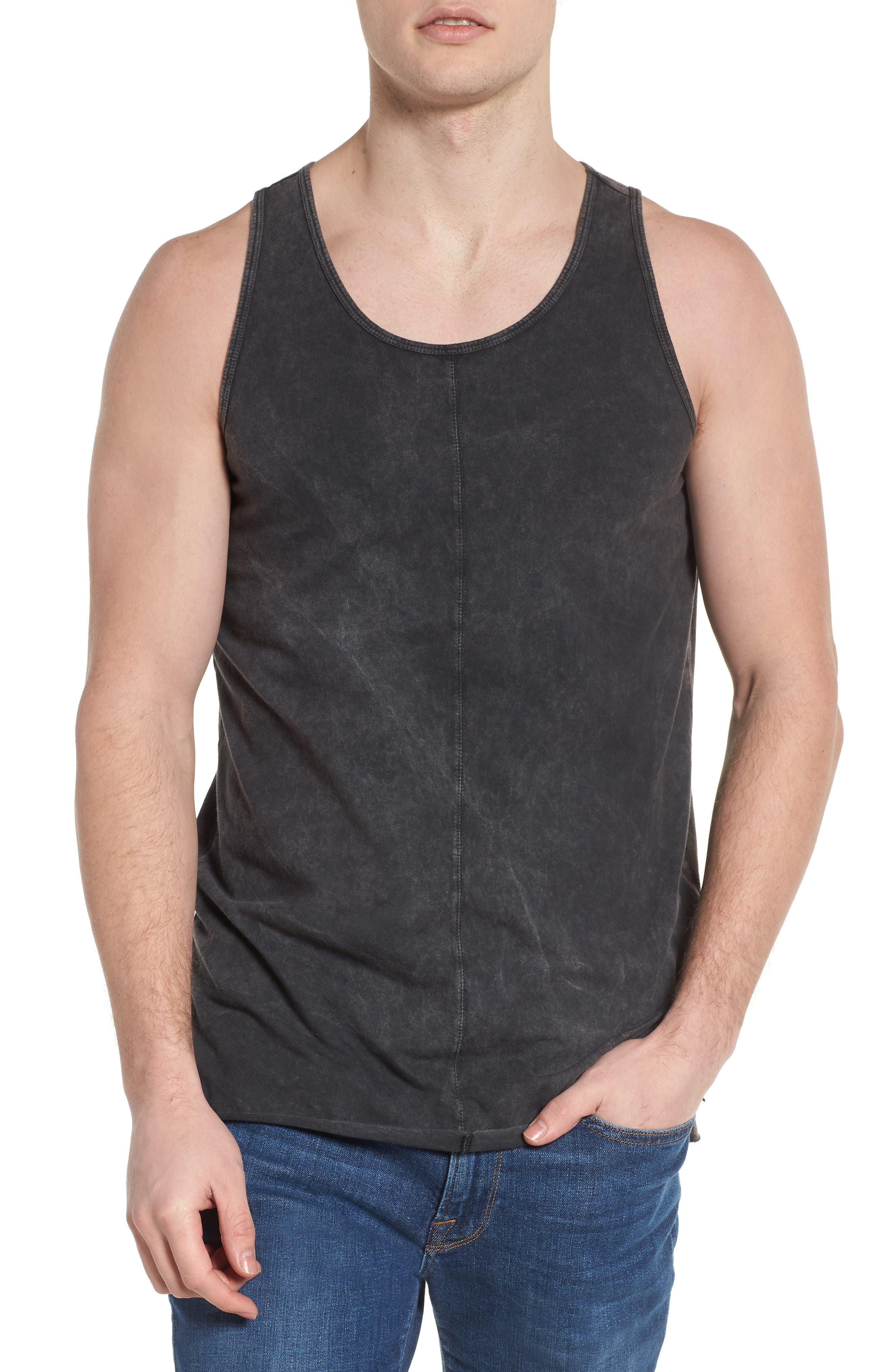 Seamed Tank,                         Main,                         color, CHARCOAL
