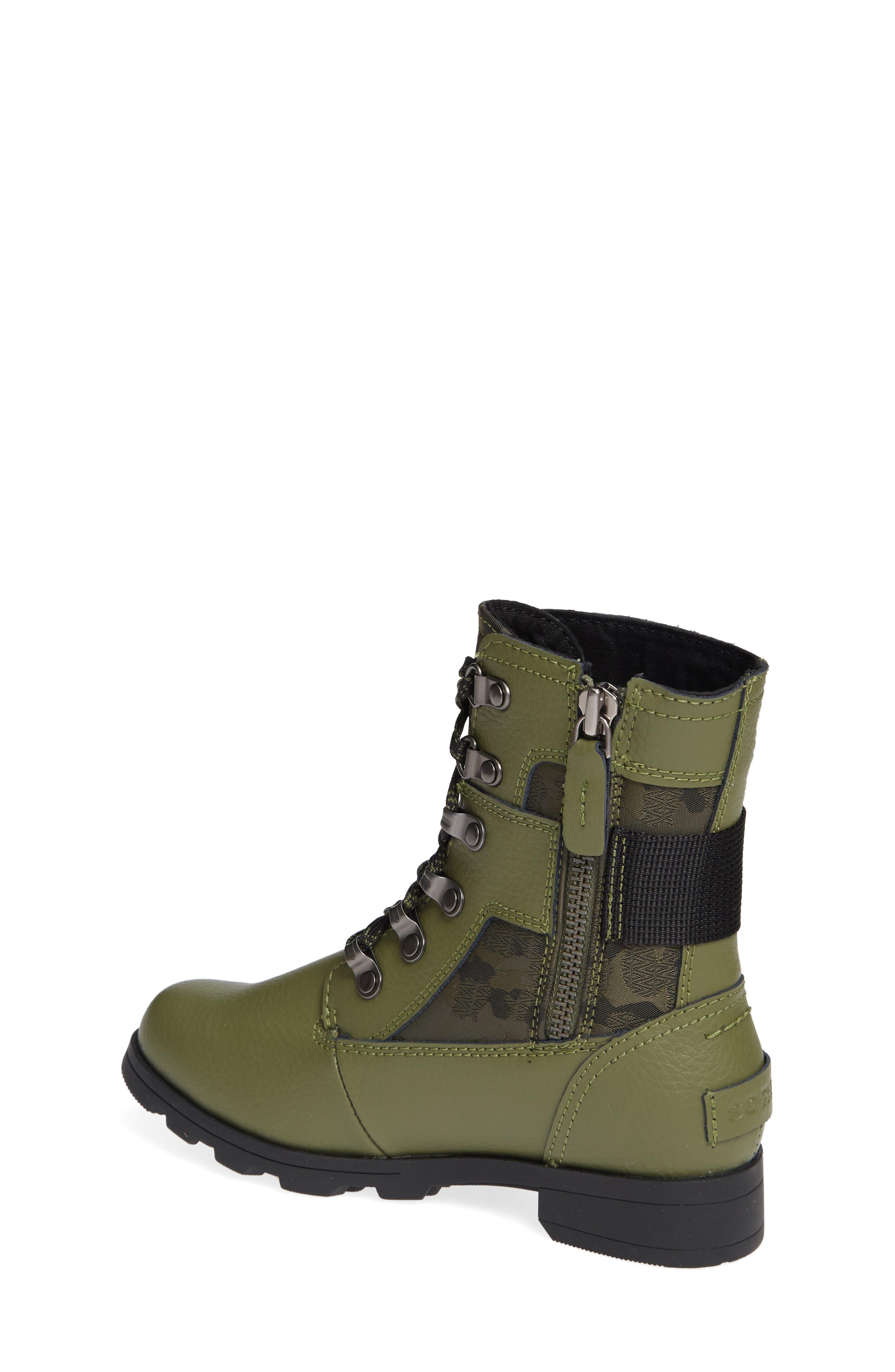 Emelie Waterproof Boot,                             Alternate thumbnail 2, color,                             HIKER GREEN/ BLACK