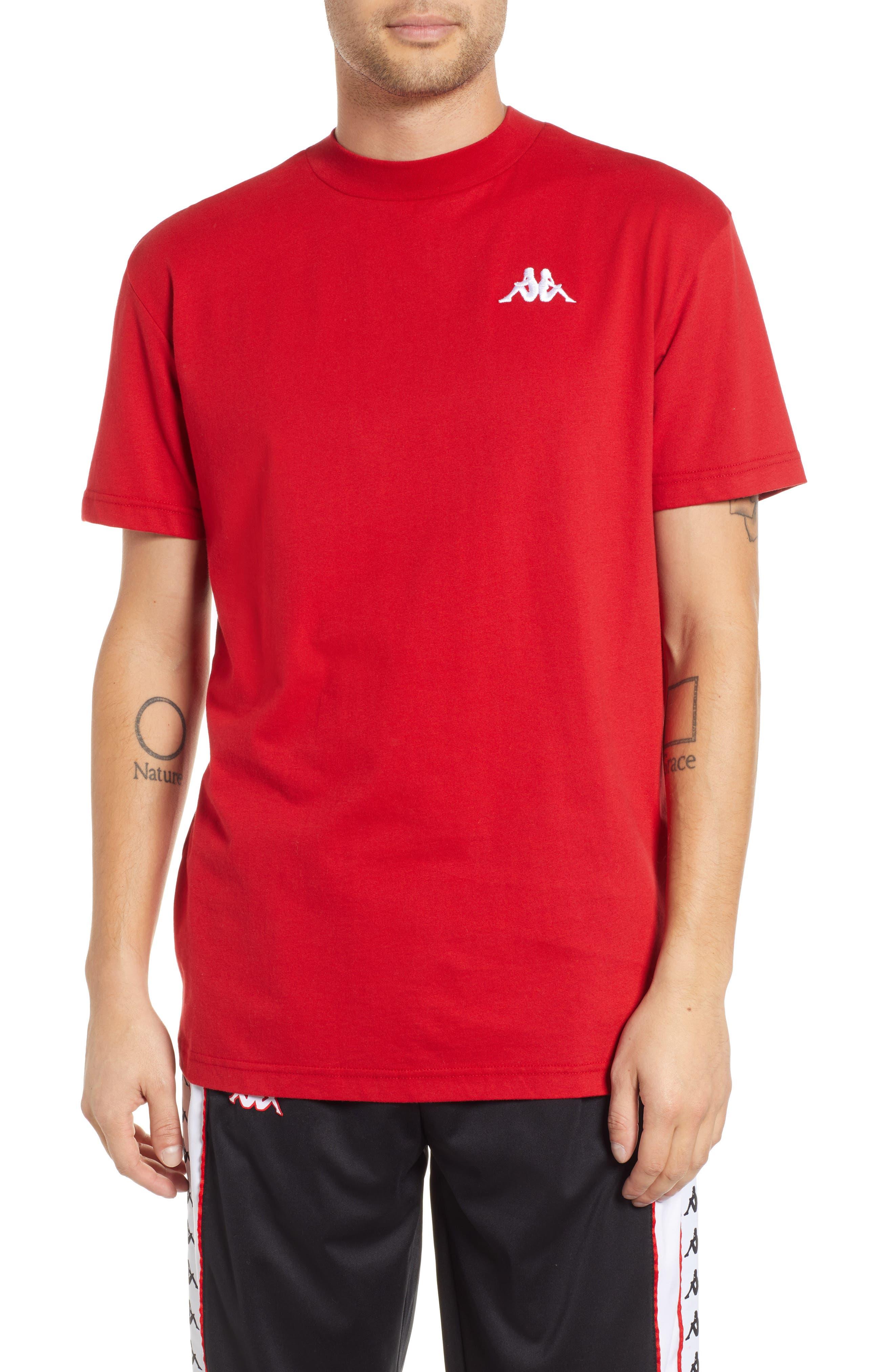 Kappa Active Authentic Bzalaya Logo T-Shirt, Red