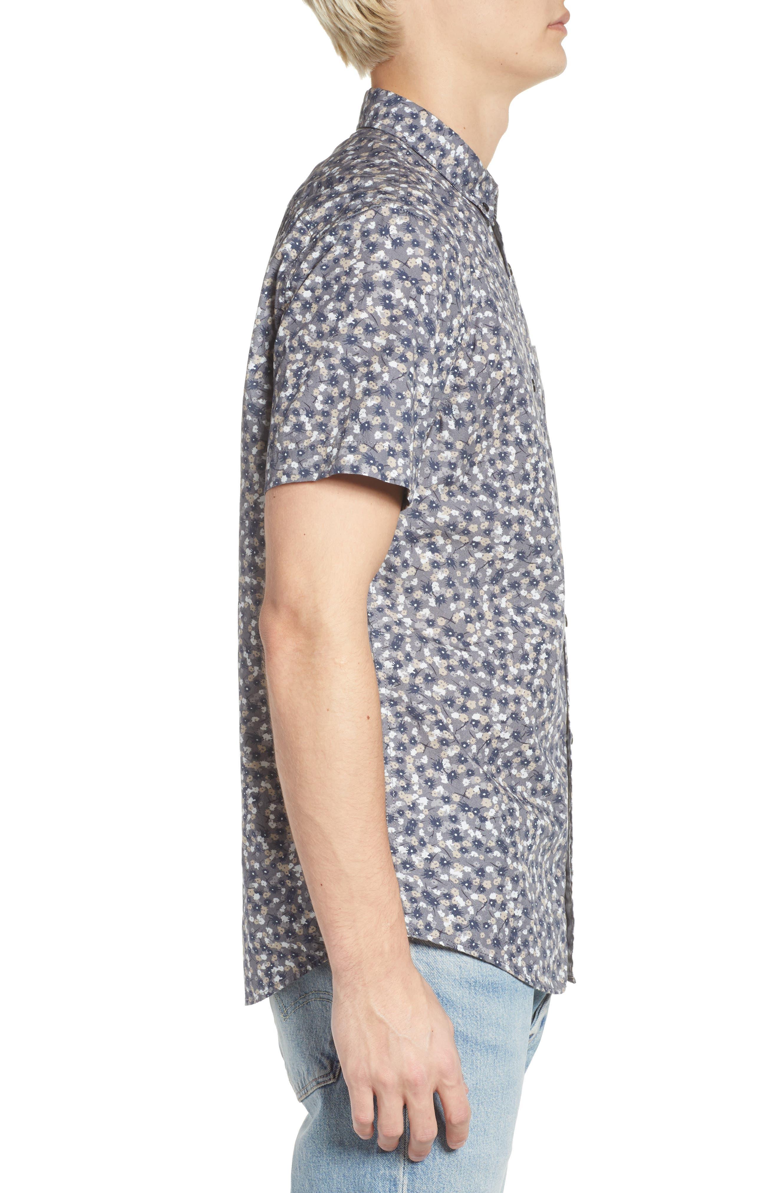 Printed Cotton Poplin Shirt,                             Alternate thumbnail 3, color,                             030