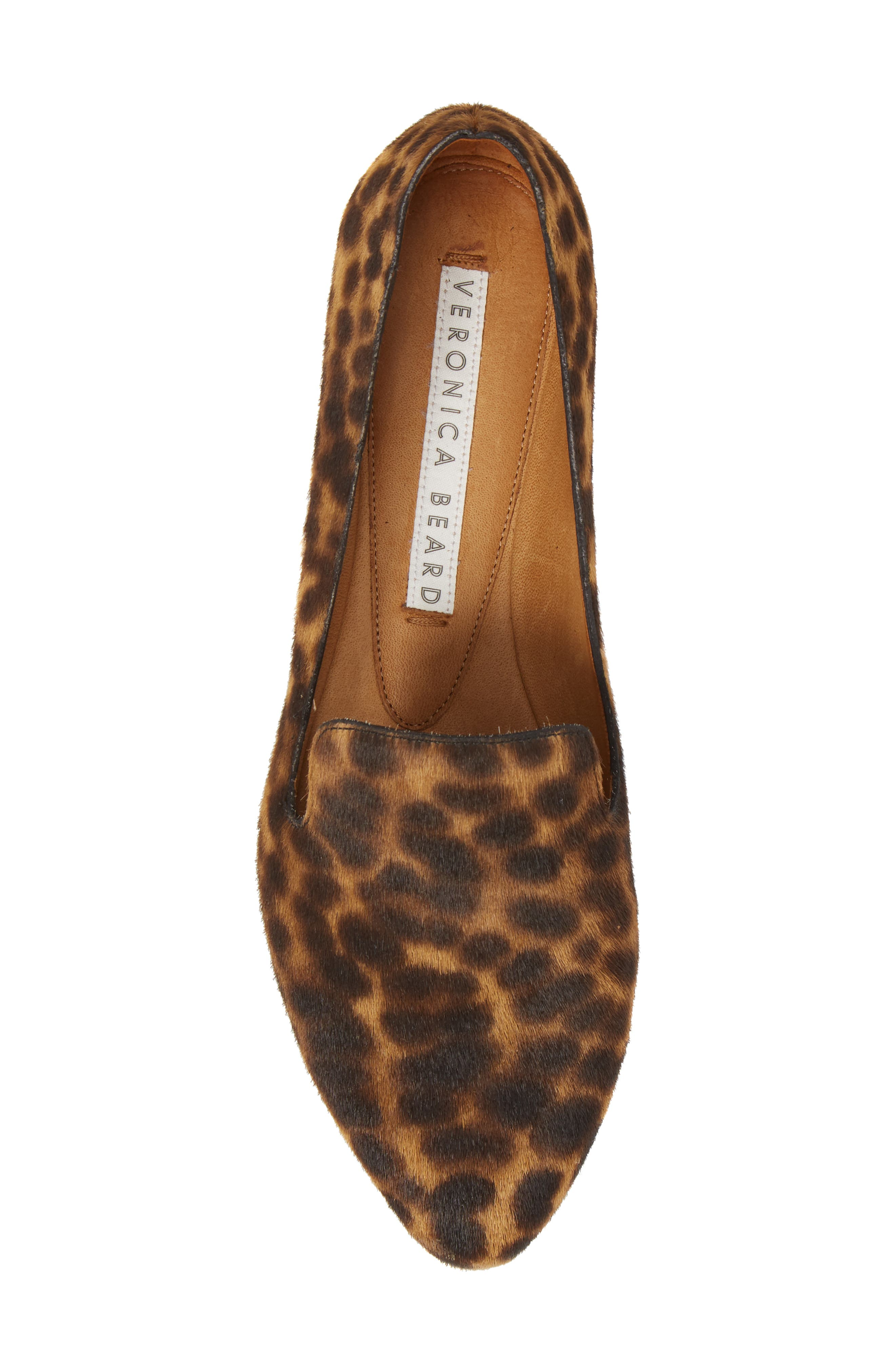 Griffin Genuine Calf Hair Loafer,                             Alternate thumbnail 5, color,                             LEOPARD