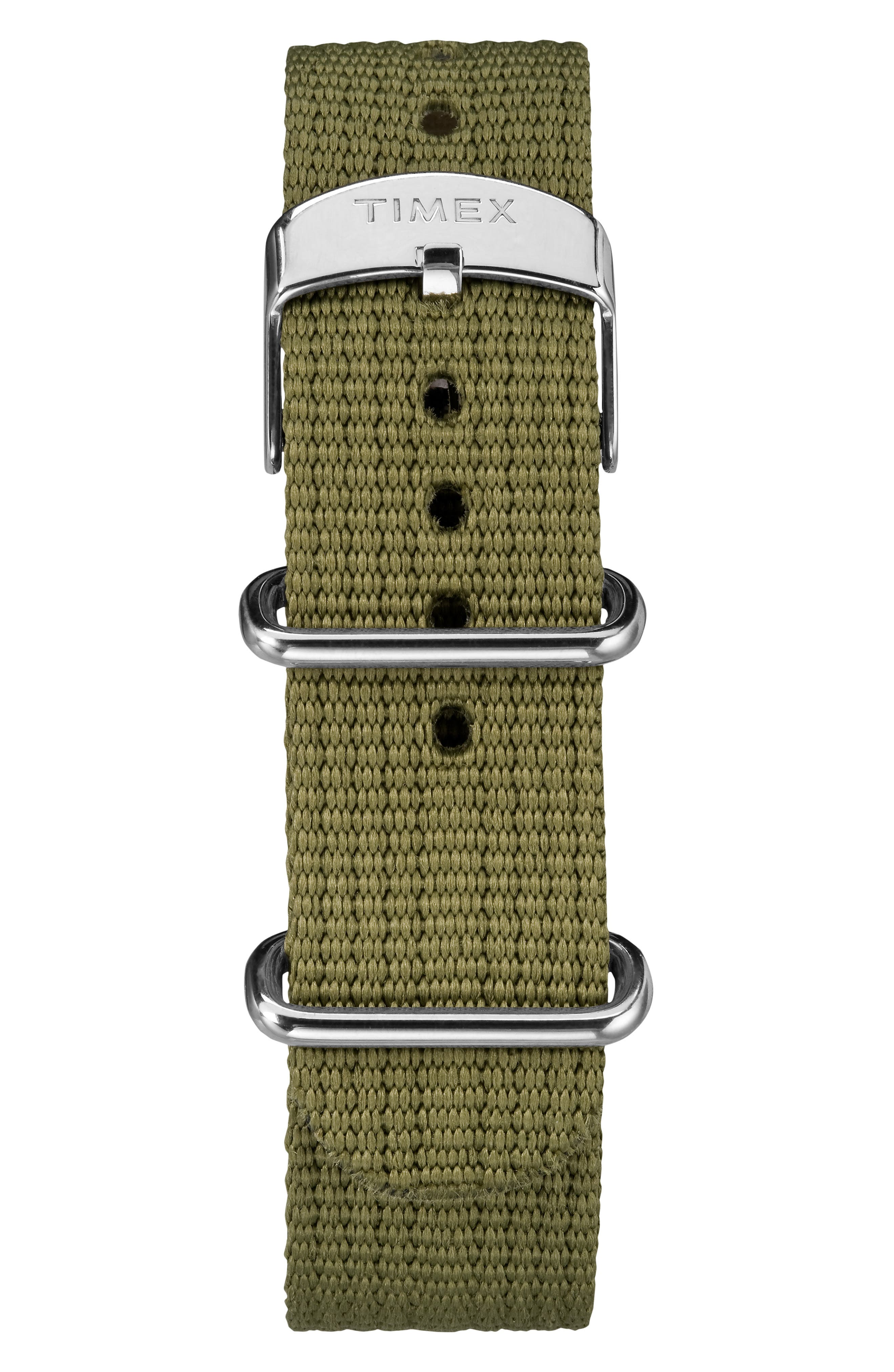 Timex<sup>®</sup> x Todd Snyder The Military NATO Strap Watch, 40mm,                             Alternate thumbnail 3, color,                             BLACK/ GREEN