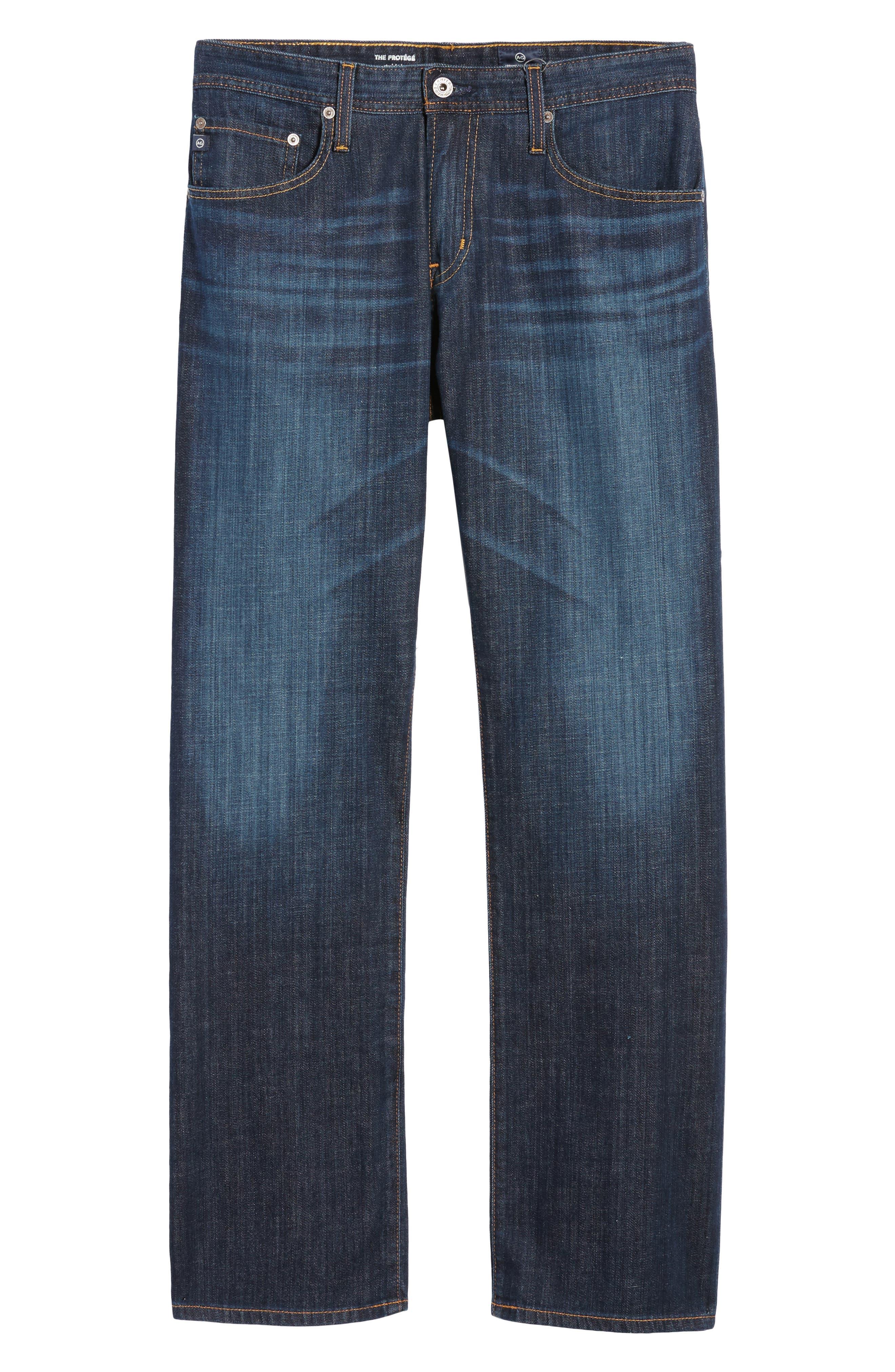 Protégé Straight Leg Jeans,                             Alternate thumbnail 2, color,                             HUNTS WASH