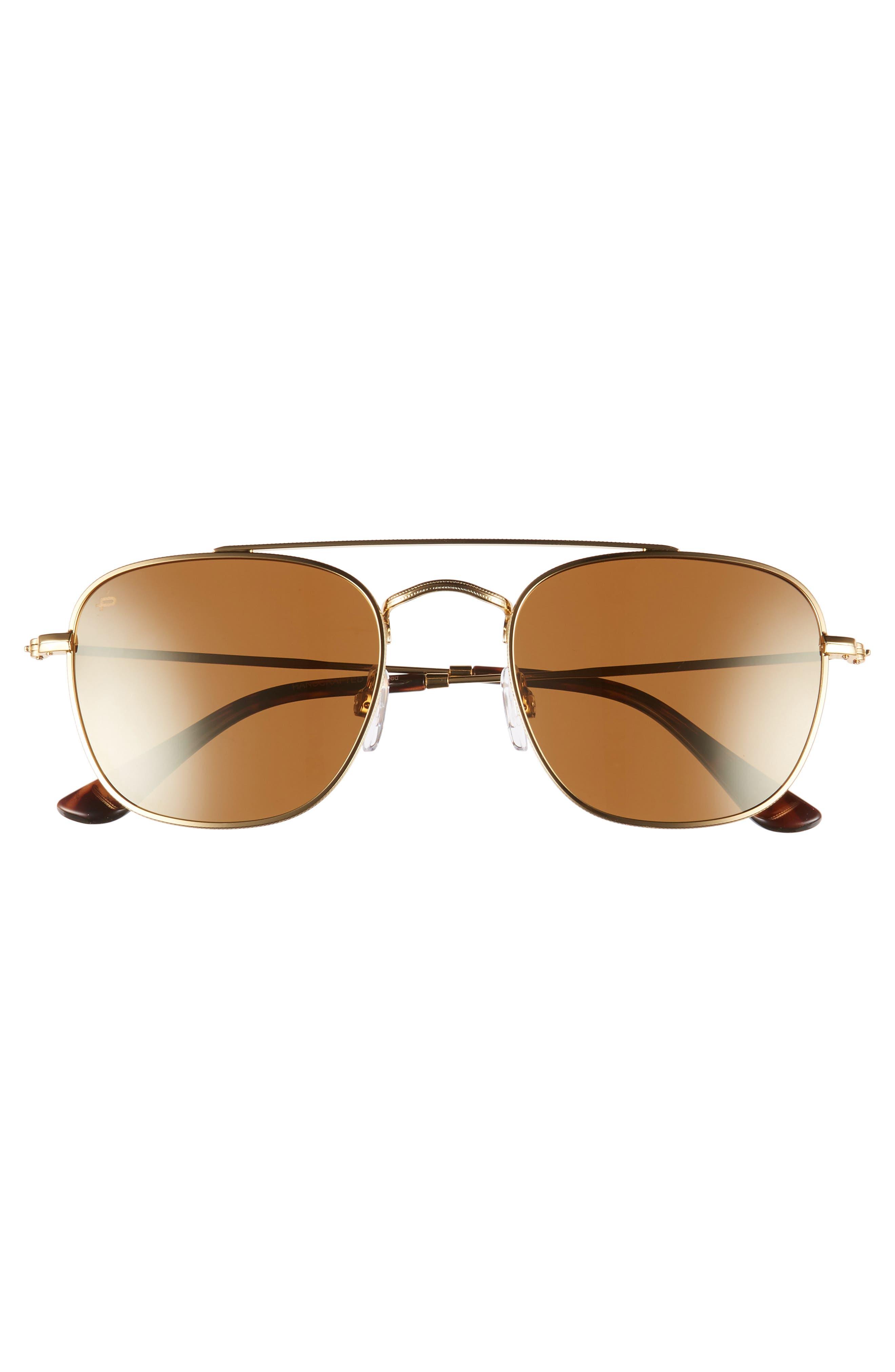 Privé Revaux The Yorker 54mm Sunglasses,                             Alternate thumbnail 3, color,                             HEAVY GOLD