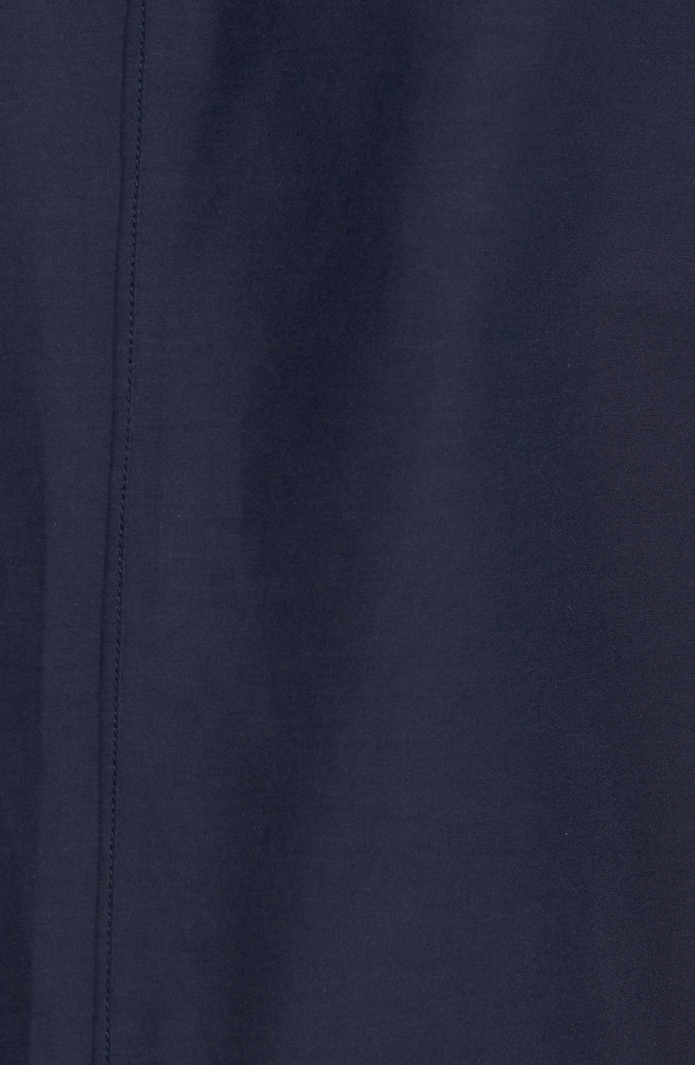 Bonded Cotton Blend Rain Jacket,                             Alternate thumbnail 6, color,                             NAVY