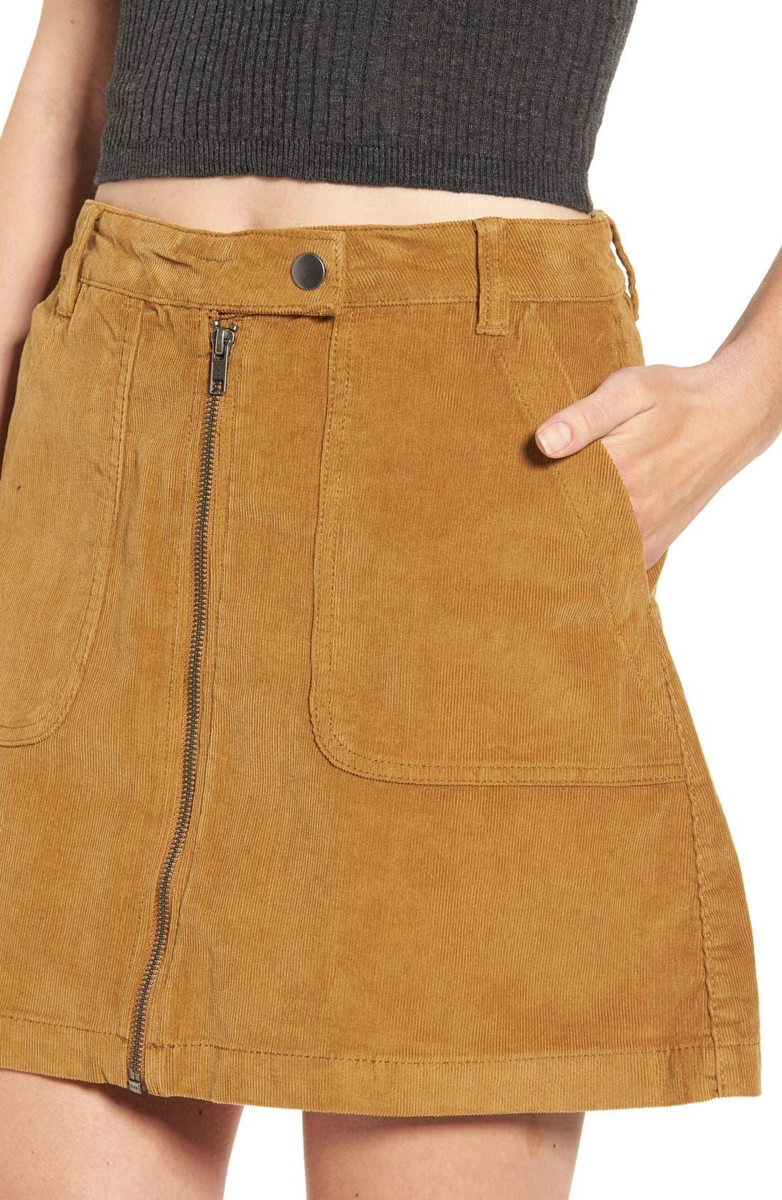 A-Line Corduroy Skirt,                             Alternate thumbnail 3, color,