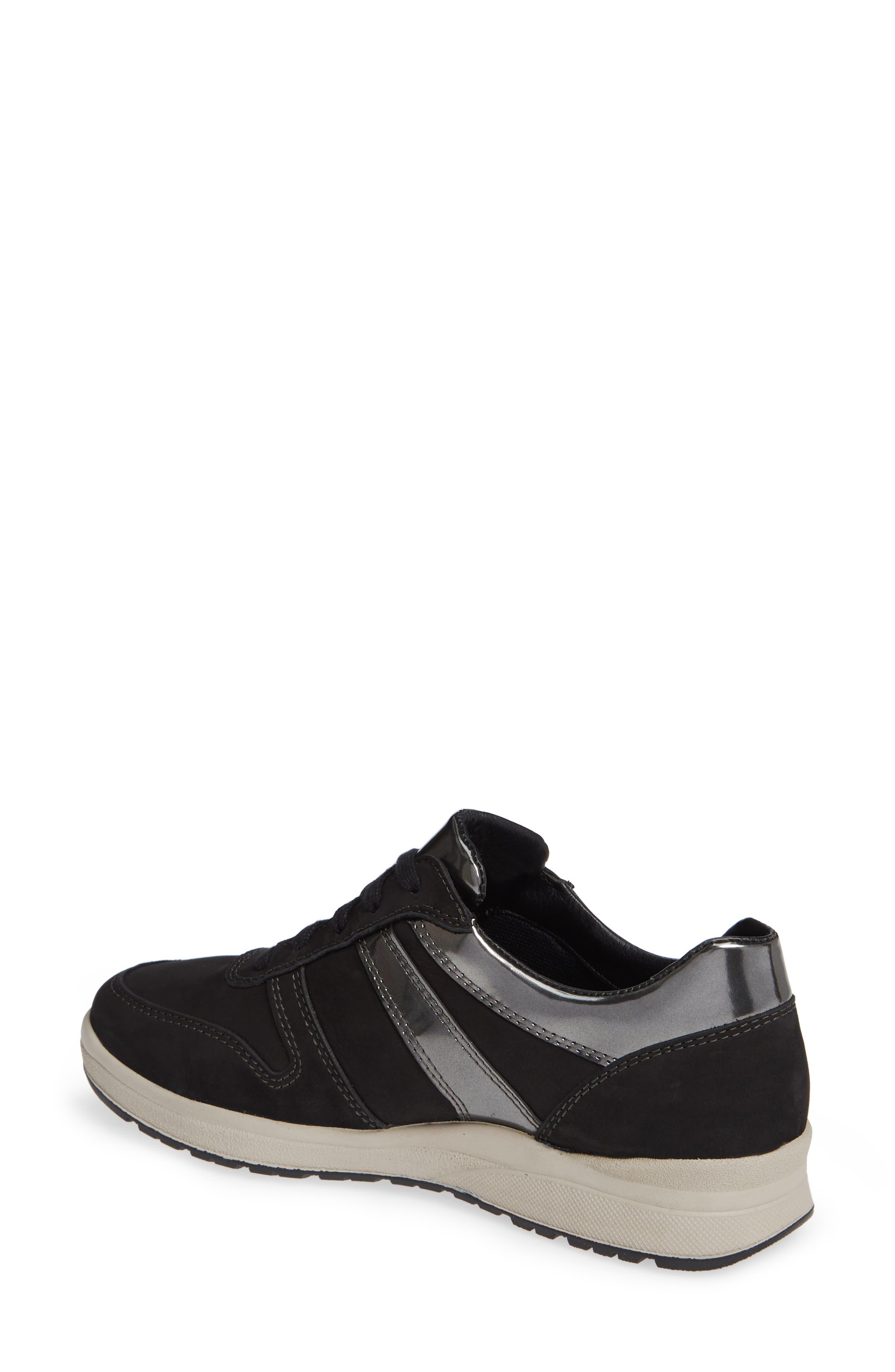 MEPHISTO,                             Rebeca Sneaker,                             Alternate thumbnail 2, color,                             BLACK FABRIC