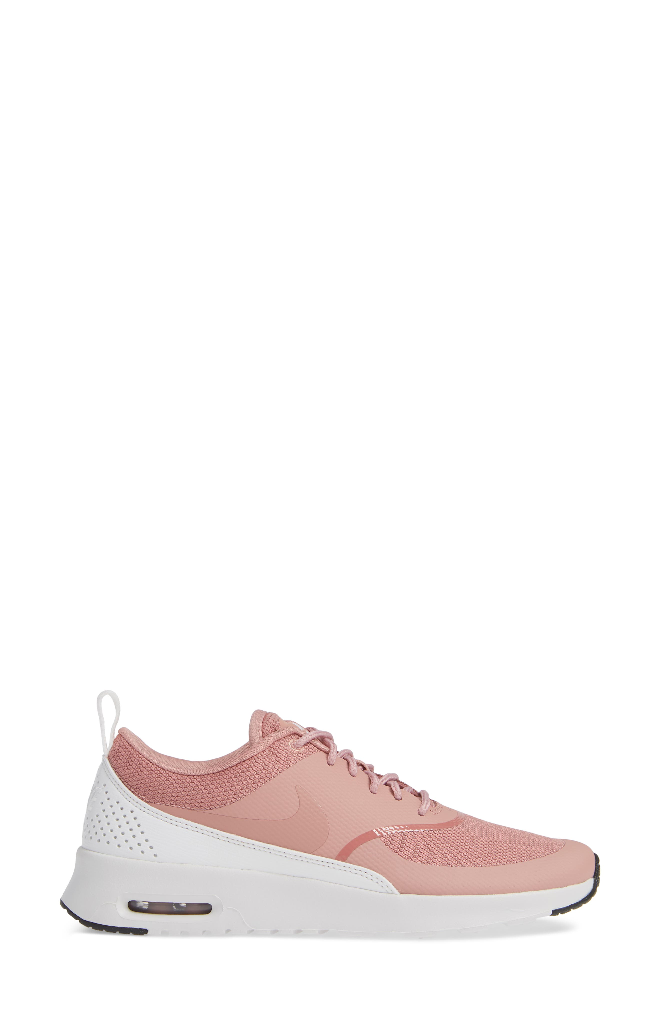 Air Max Thea Sneaker,                             Alternate thumbnail 3, color,                             RUST PINK/ WHITE/ BLACK