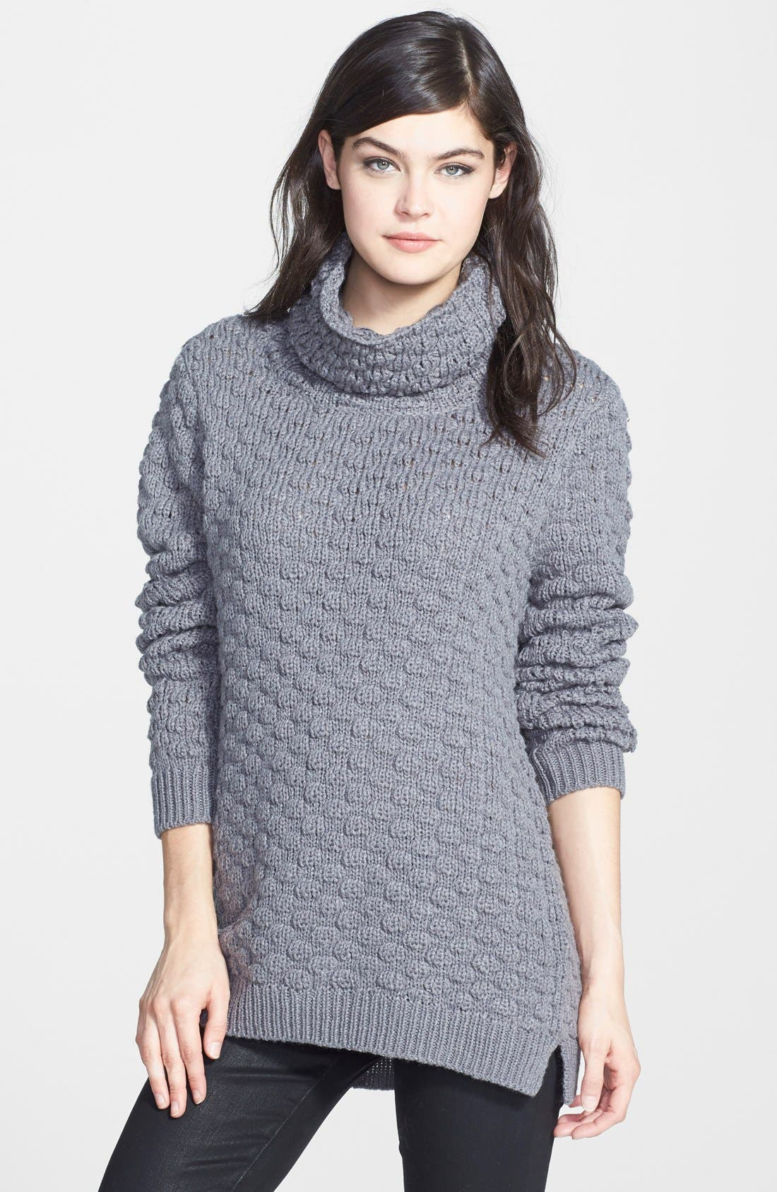 Textured Funnel Neck Sweater, Main, color, 020