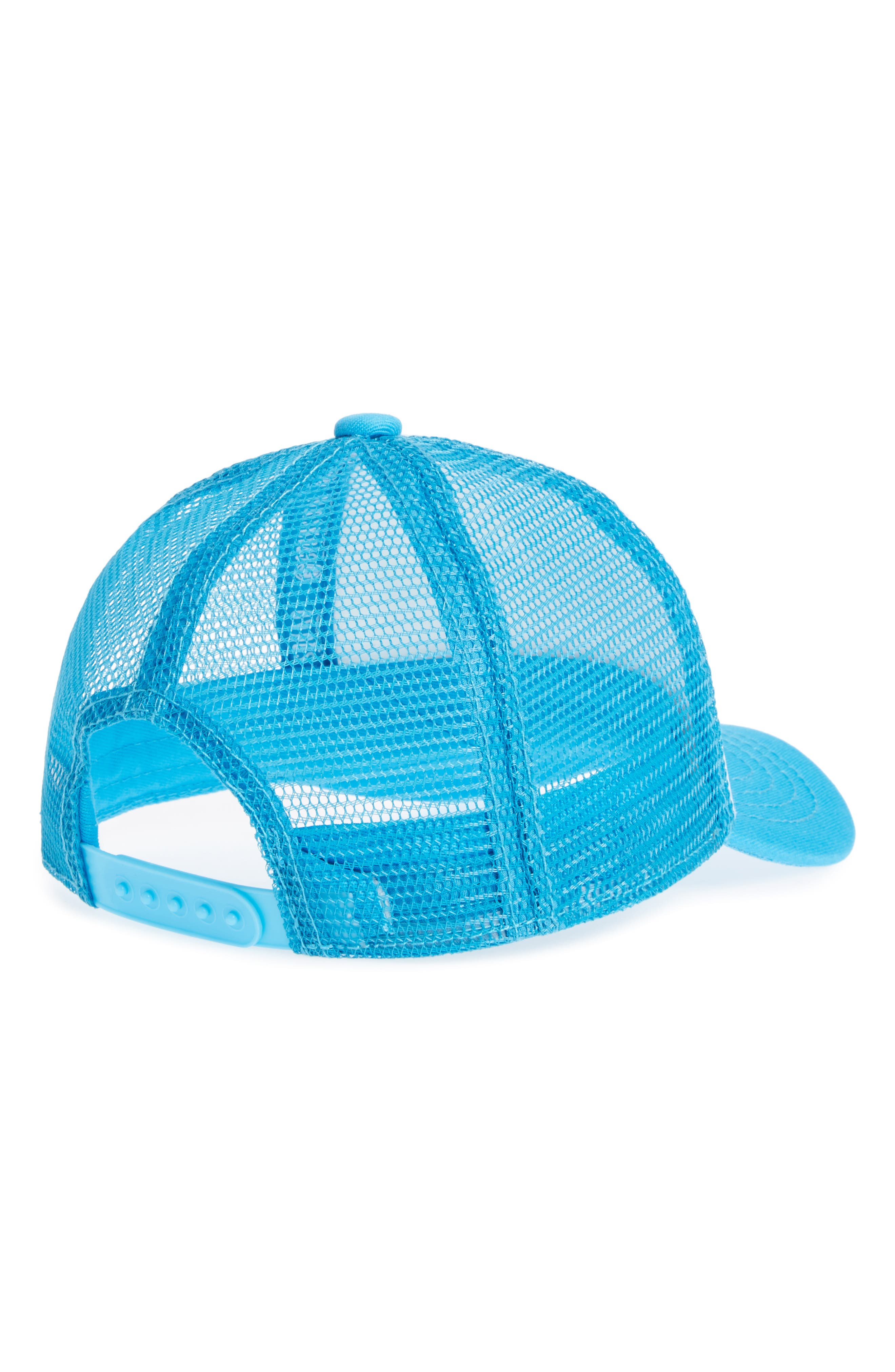Trucker Hat,                             Alternate thumbnail 2, color,                             AQUA/ WHITE MERMAID HAIR
