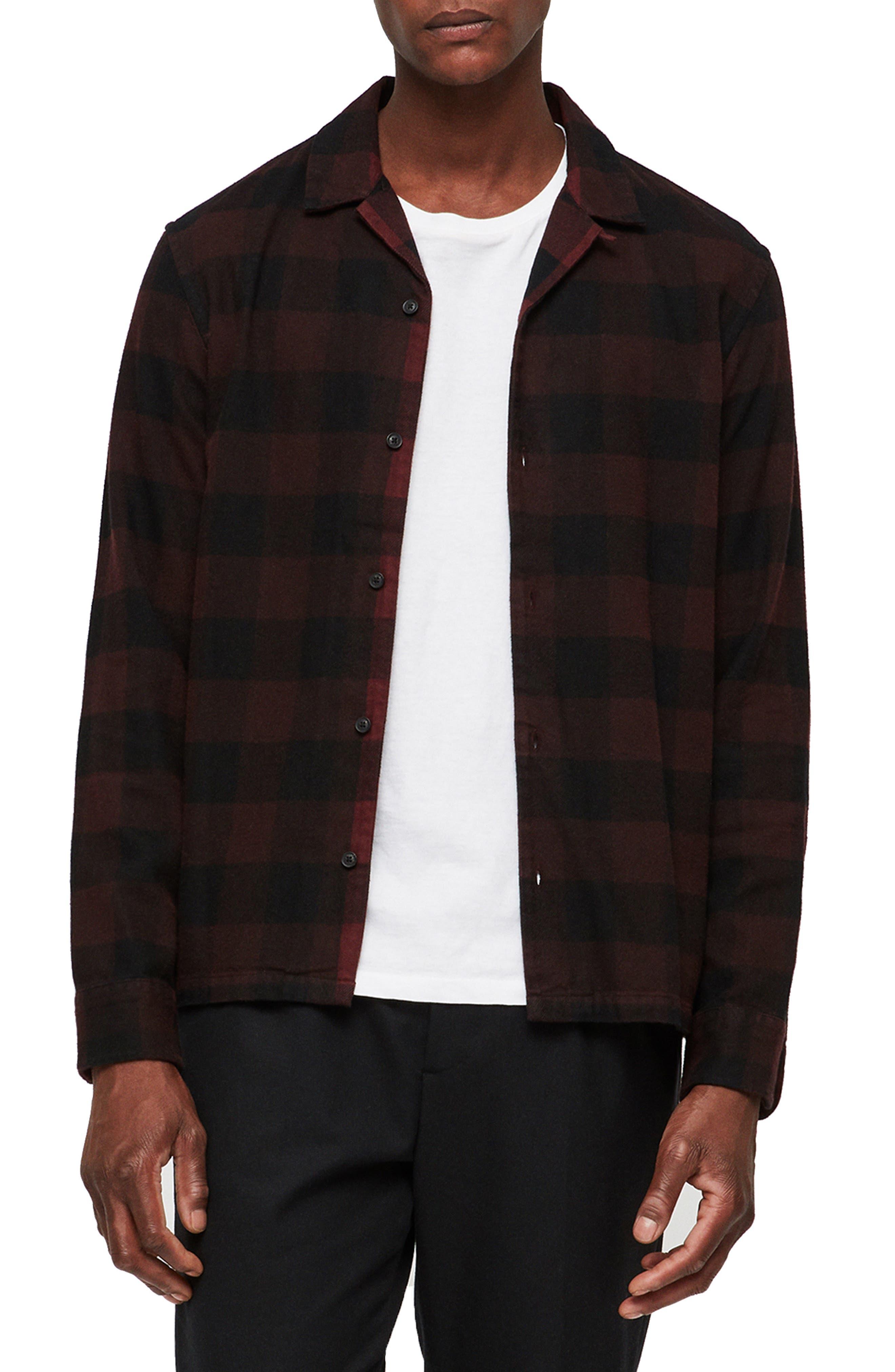 Boulder Slim Fit Shirt,                             Main thumbnail 1, color,                             RED