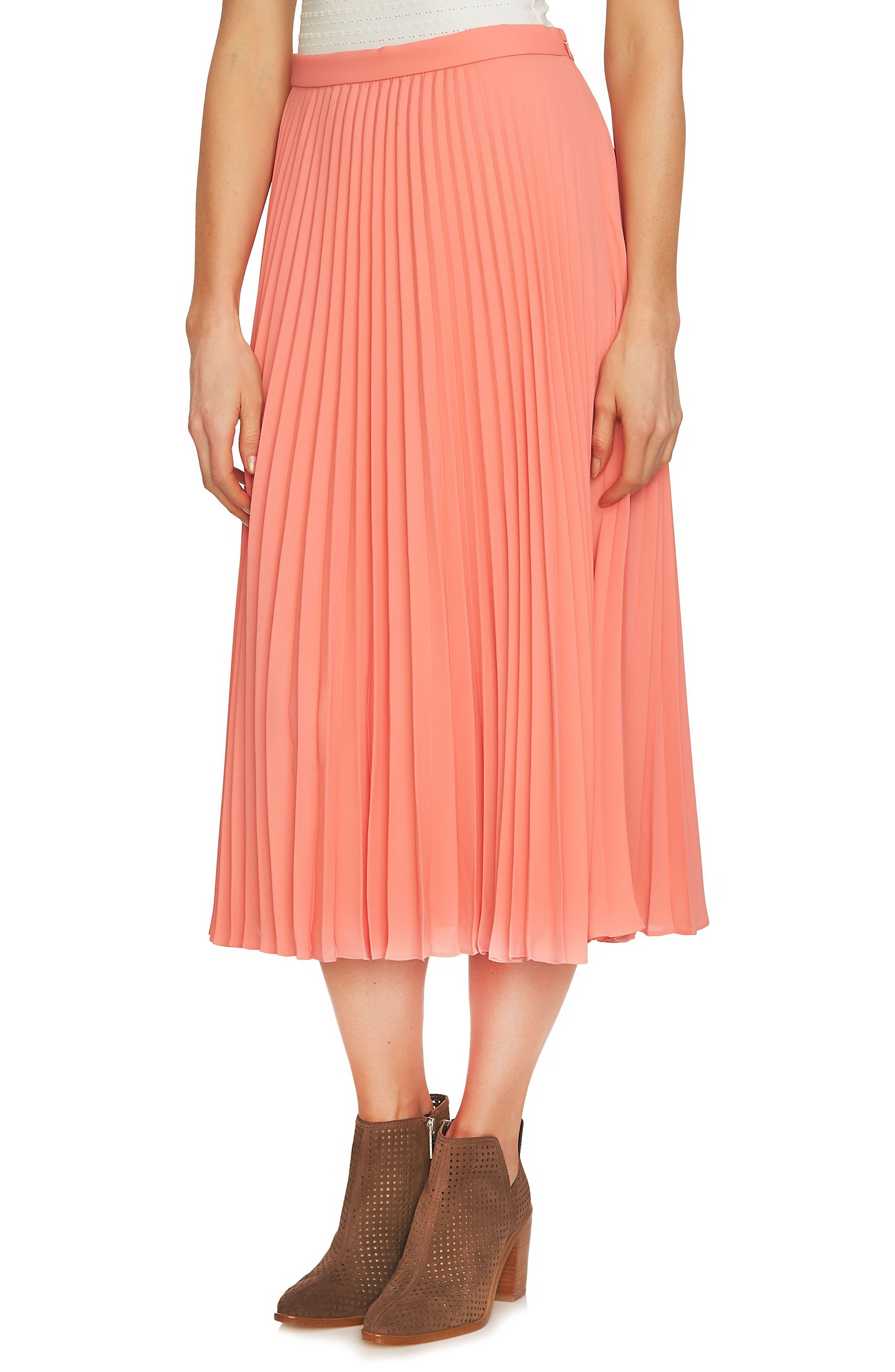Pleated Midi Skirt,                             Main thumbnail 3, color,