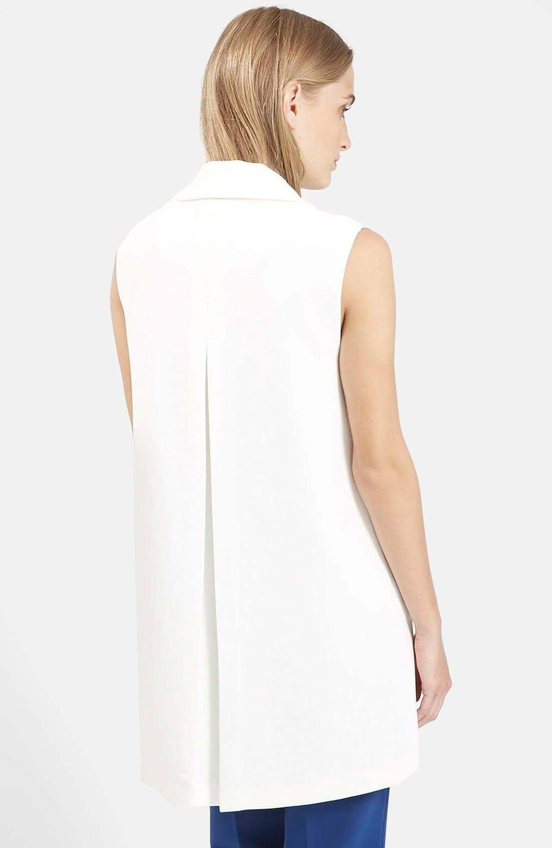 Swingy Crepe Vest,                             Alternate thumbnail 3, color,                             100